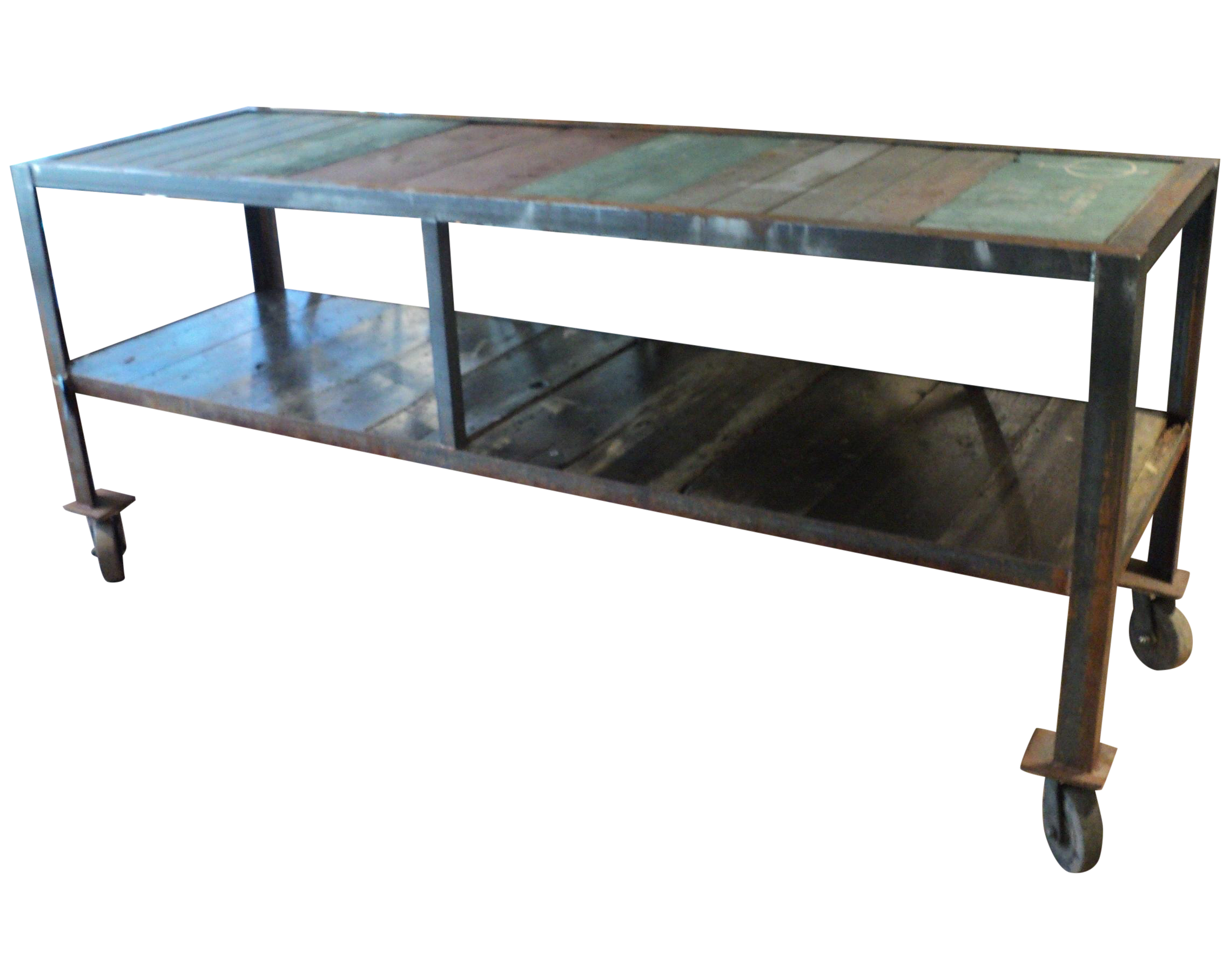 Kitchen Island Table On Wheels Antique Industrial Kitchen Island Table On Wheels Chairish
