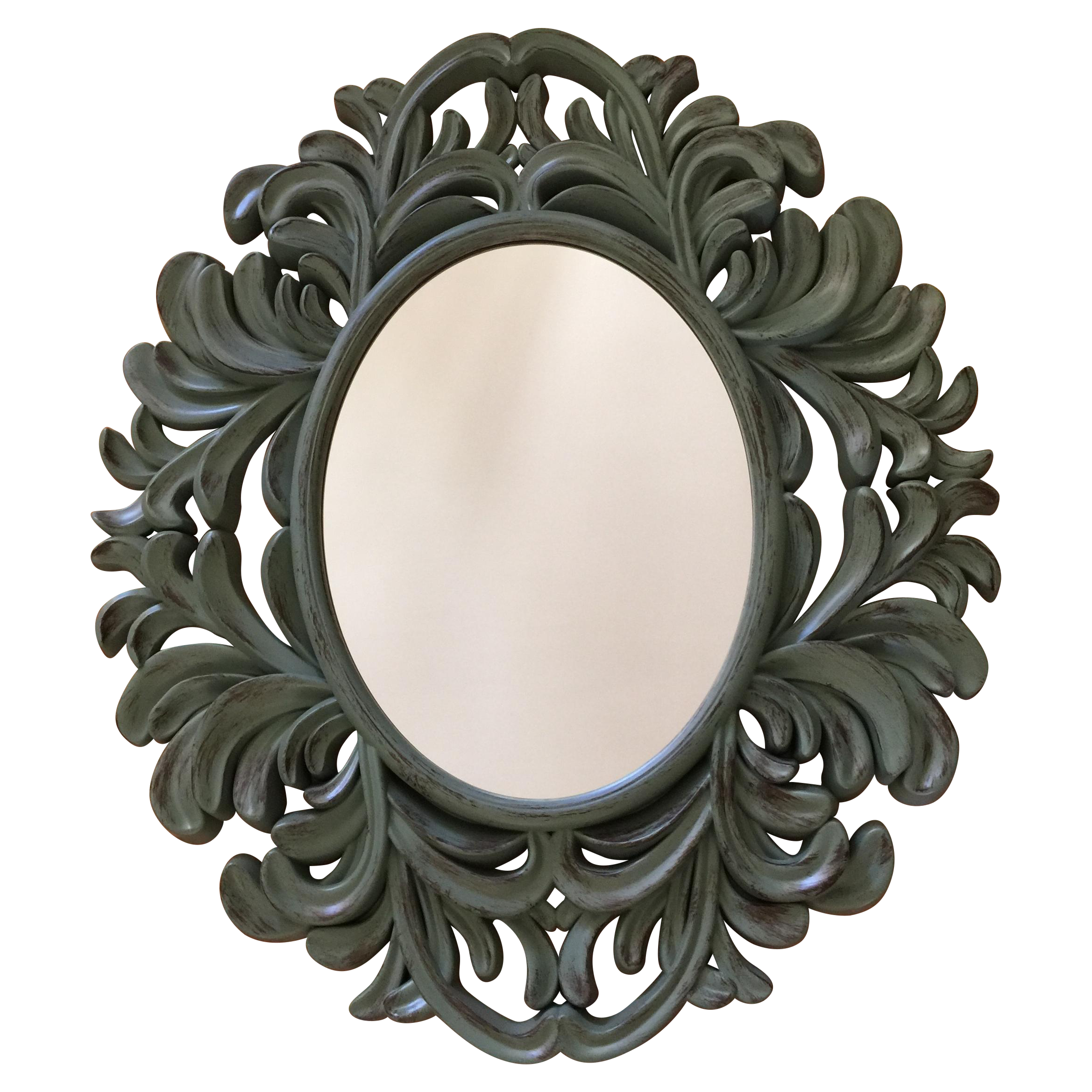 Modern rococo style resin mirror chairish for Baroque resin mirror