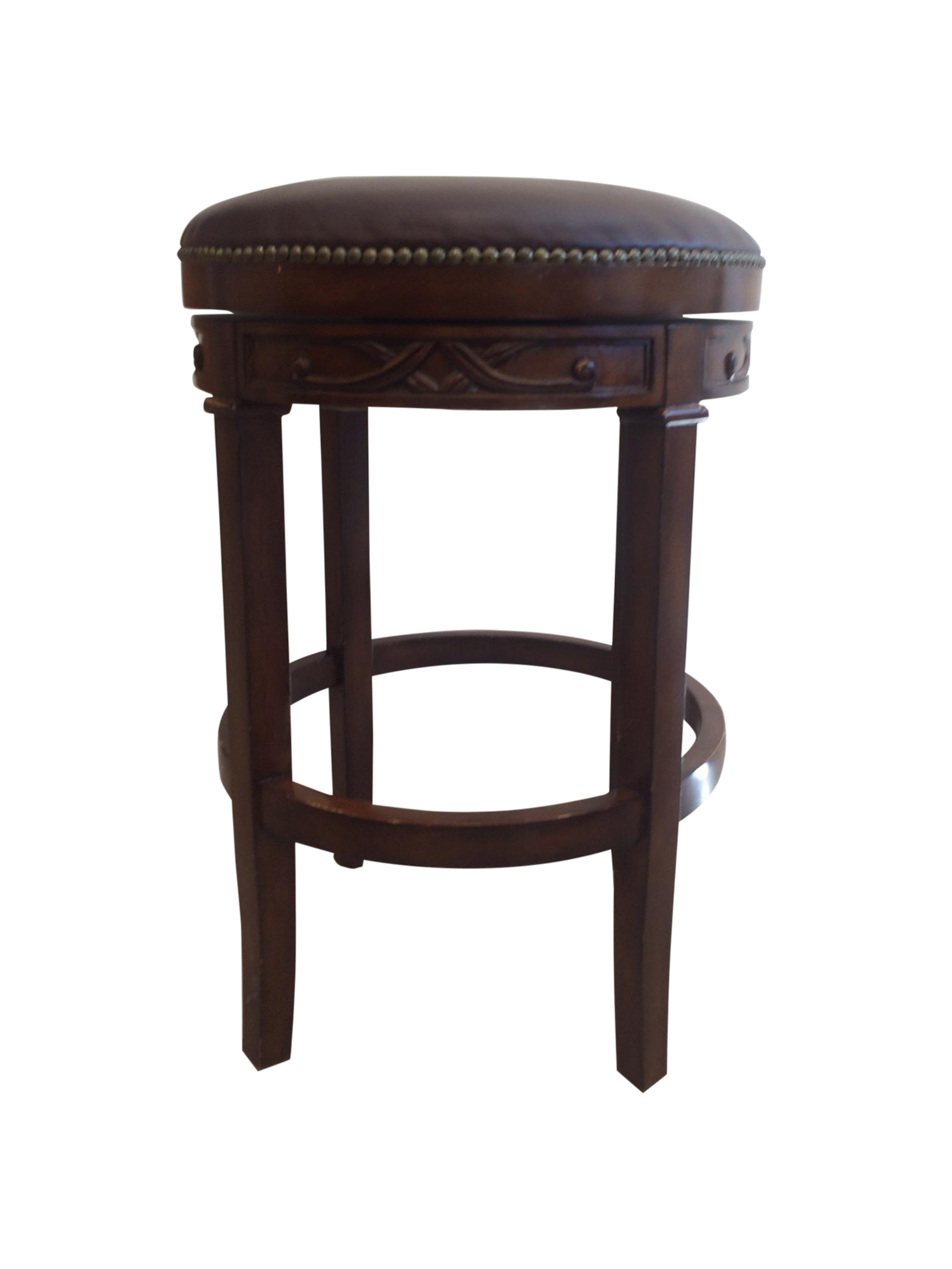 Swivel Leather amp Wood Bar Stools Set of 4 Chairish : 20155ecb 9561 4288 9bd3 a0ecfd5185b8 from www.chairish.com size 1536 x 2048 png 822kB