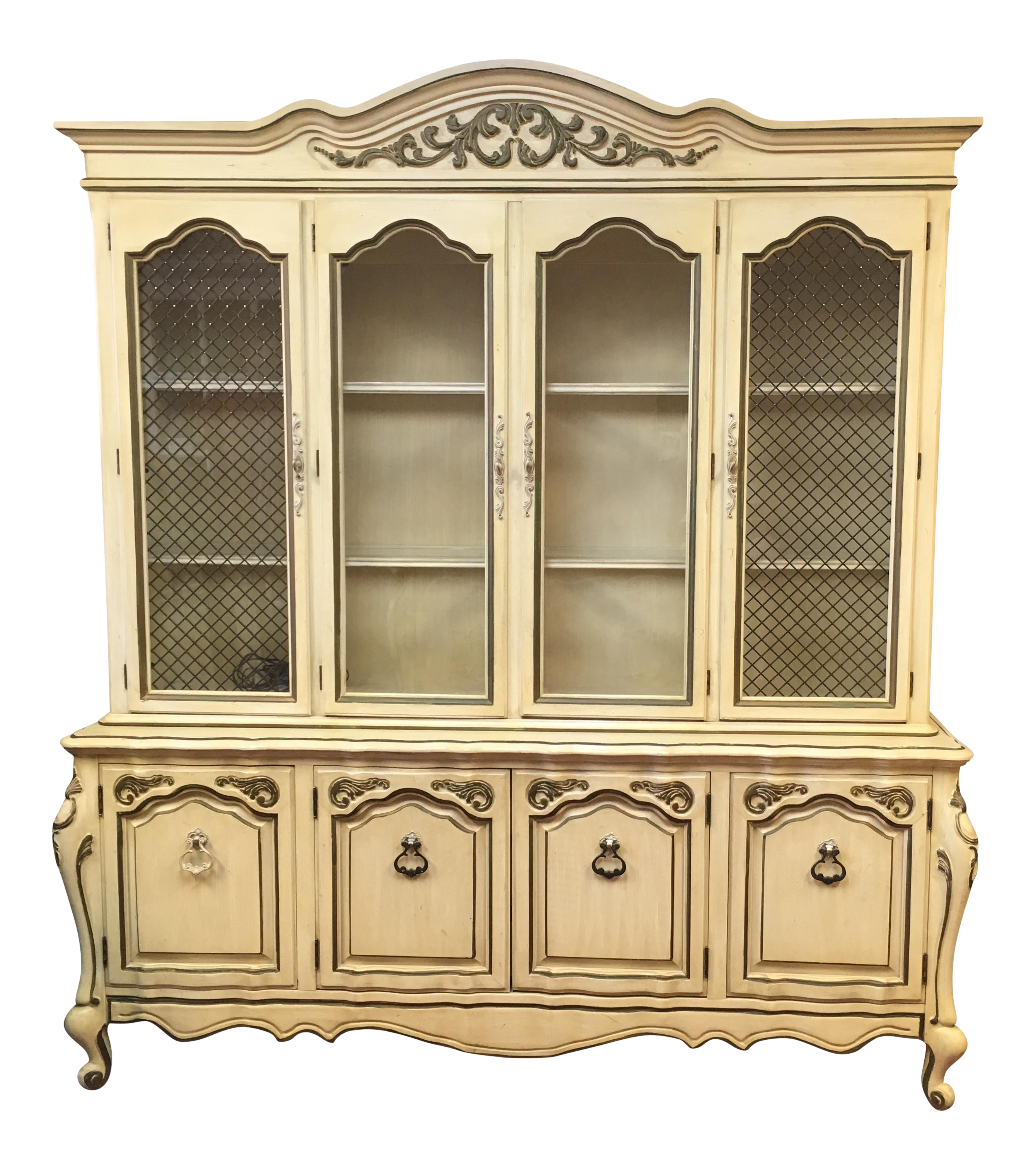 french provincial china cabinet provincial style china cabinet chairish 15644
