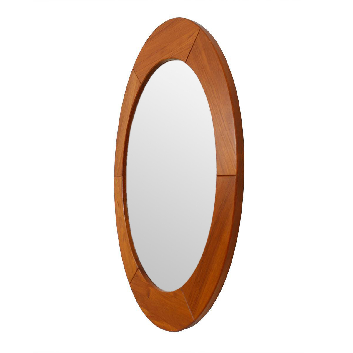 Pedersen Amp Hansen Large Oval Teak Mirror Chairish