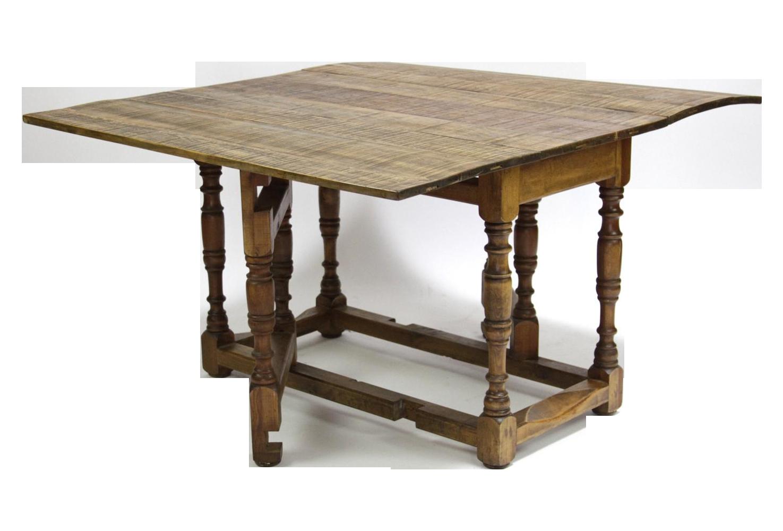 Spanish colonial folding gateleg table chairish - Folding gateleg table ...