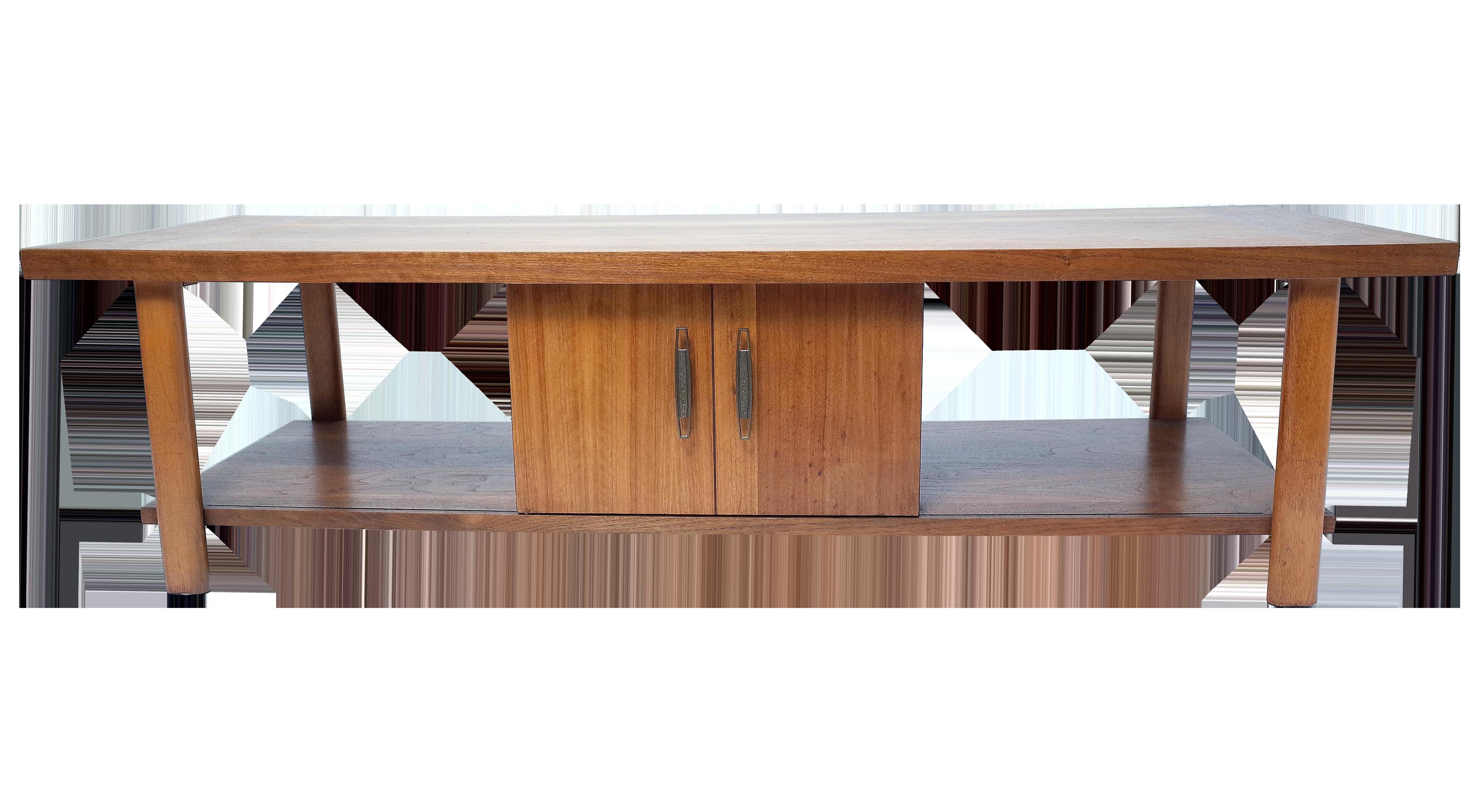 Lane Coffee Table with Sliding Door