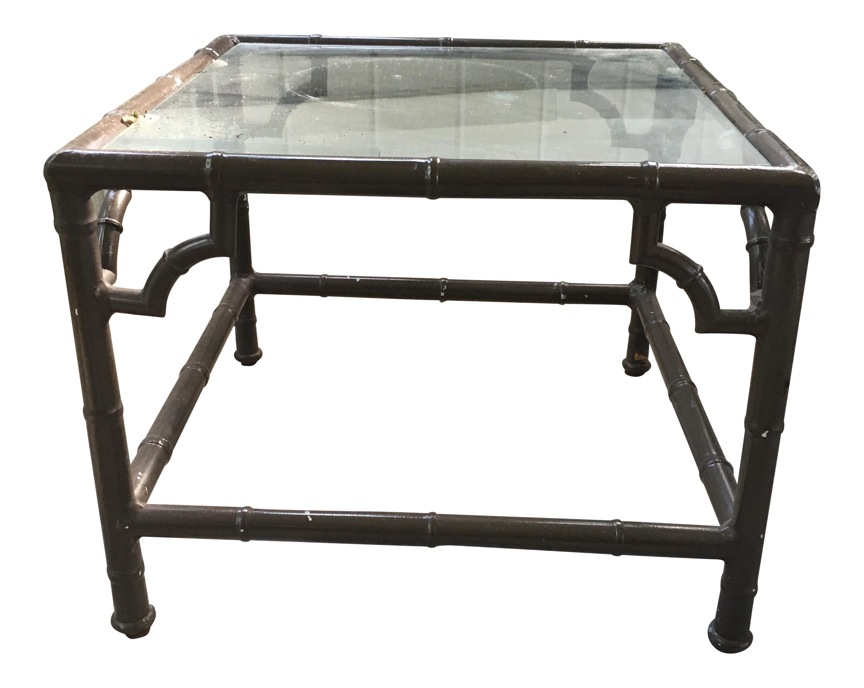 Chinese Chippendale Faux Bamboo Patio Table Chairish