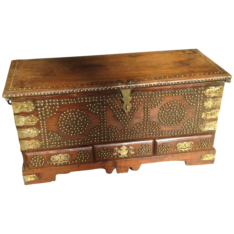 Antique Anglo Indian Dowry Chest Chairish