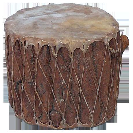 Large Native American Drum Chairish