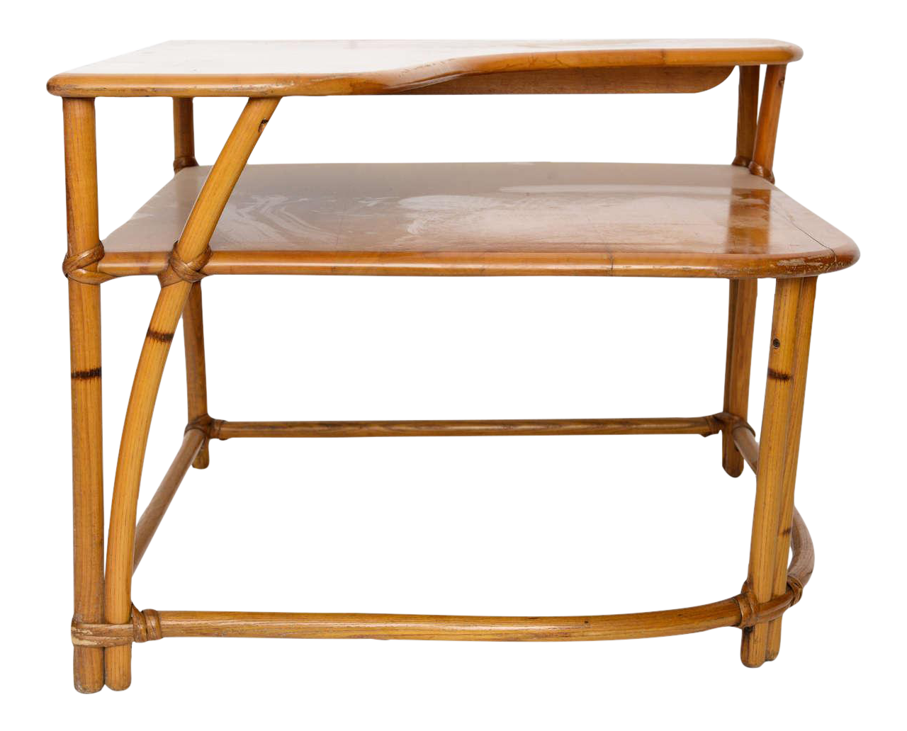 Exceptional Heywood Wakefield Cane Side Table | DECASO