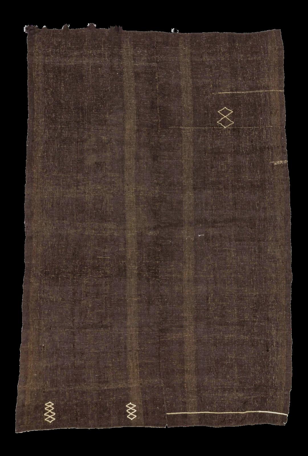 Vintage Turkish Dark Brown Kilim Rug 7 10 Quot X 11 10