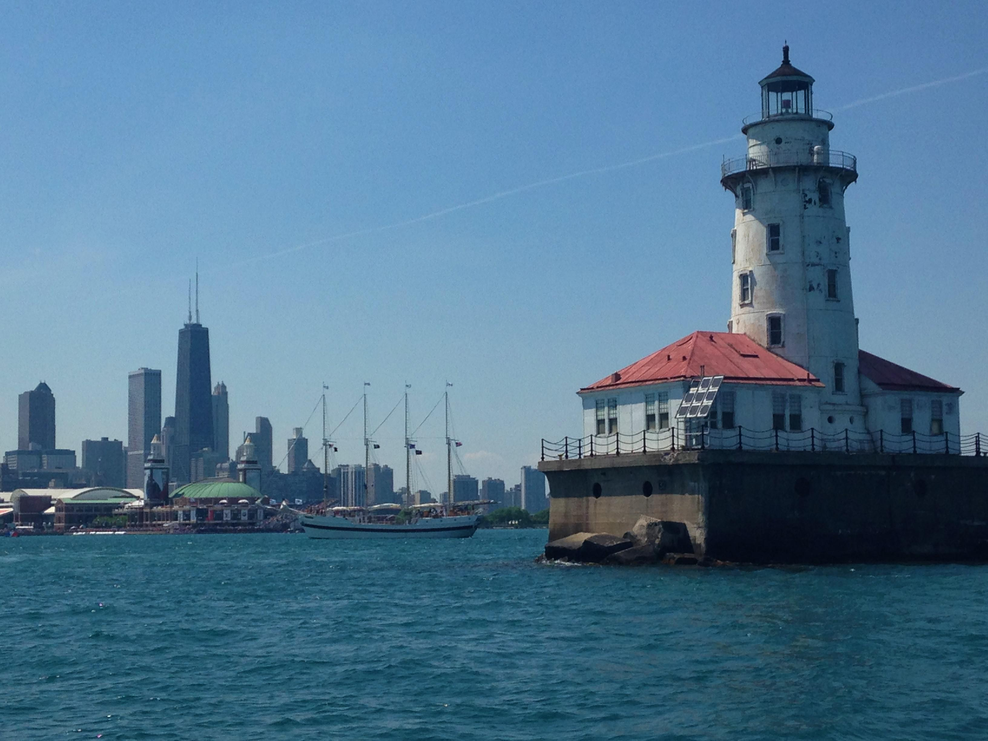 Navy Pier Lighthouse and Chicago Skyline Photo by Josh  : navy pier lighthouse and chicago skyline photo by josh moulton 0182 from www.chairish.com size 3264 x 2448 jpeg 554kB