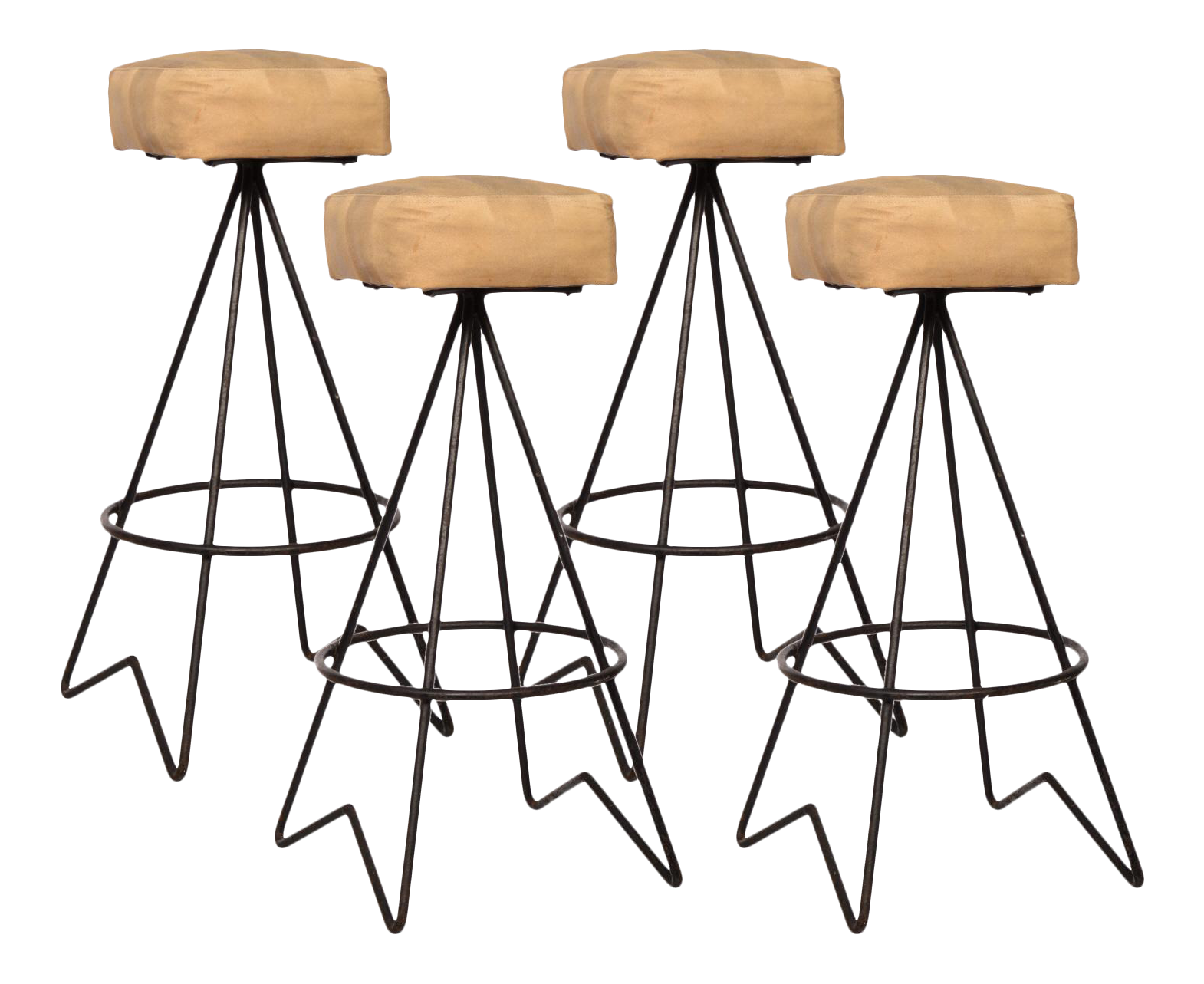 Mid Century Hairpin Leg Bar Stools Set of 4 Chairish : mid century hairpin leg bar stools set of 4 8564 from www.chairish.com size 1570 x 1283 png 1023kB