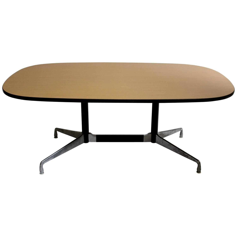 Eames for herman miller modern dining table chairish - Eames table herman miller ...