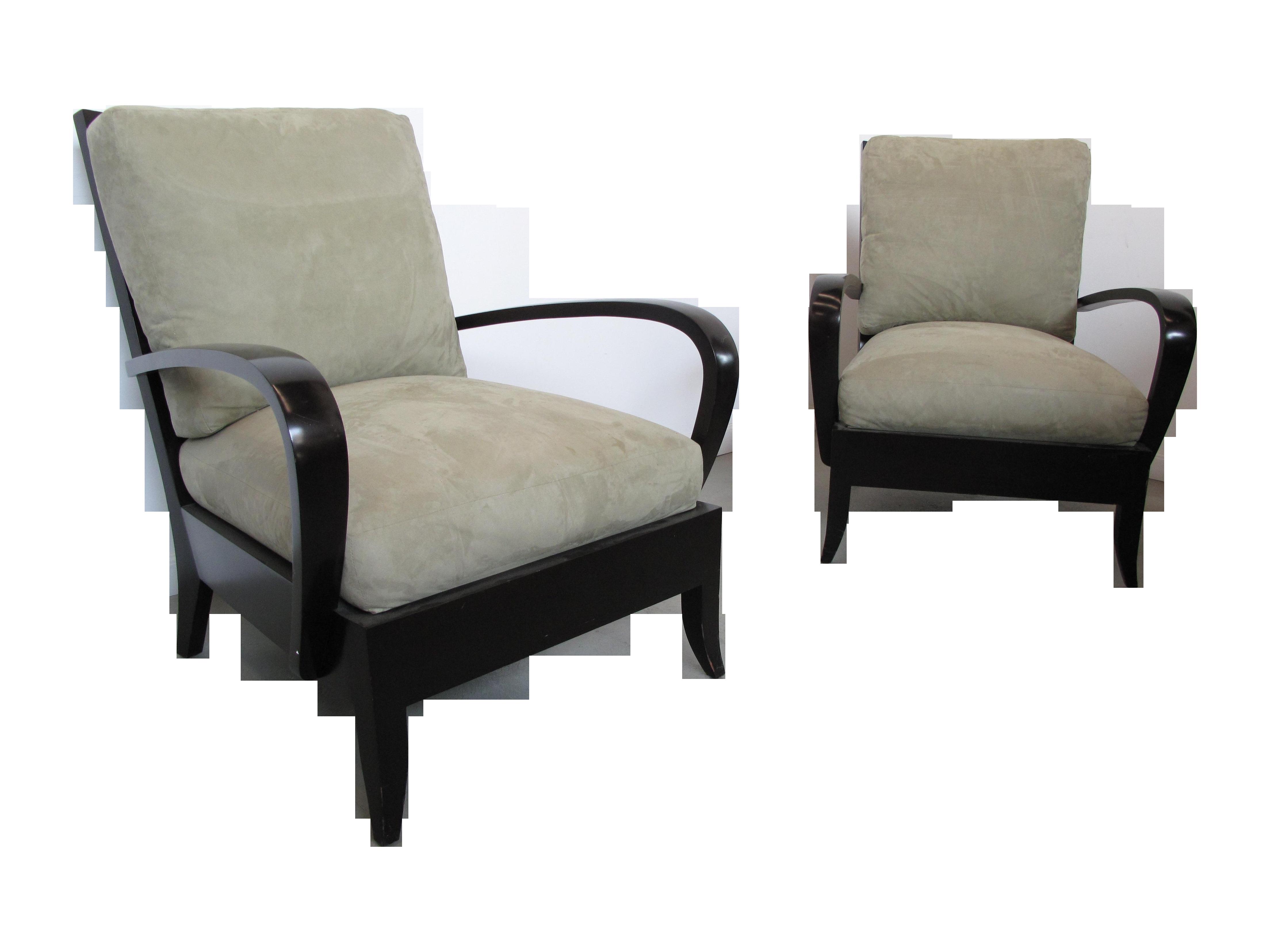 Dakota Jackson Ceylon Ebonized Lounge Chair Pair Chairish