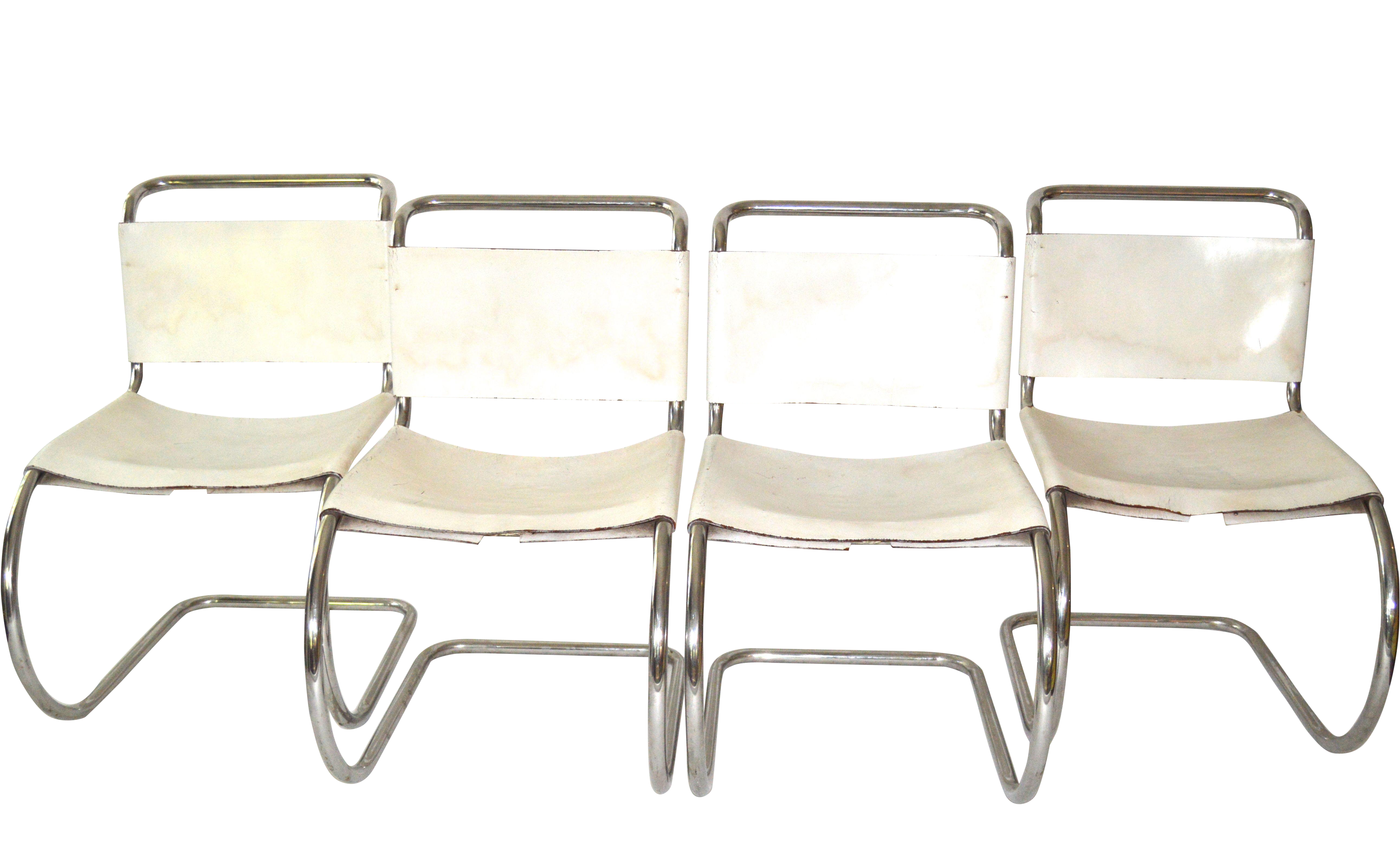 Ludwig Mies Van Der Rohe Chairs Set Of 4 Chairish