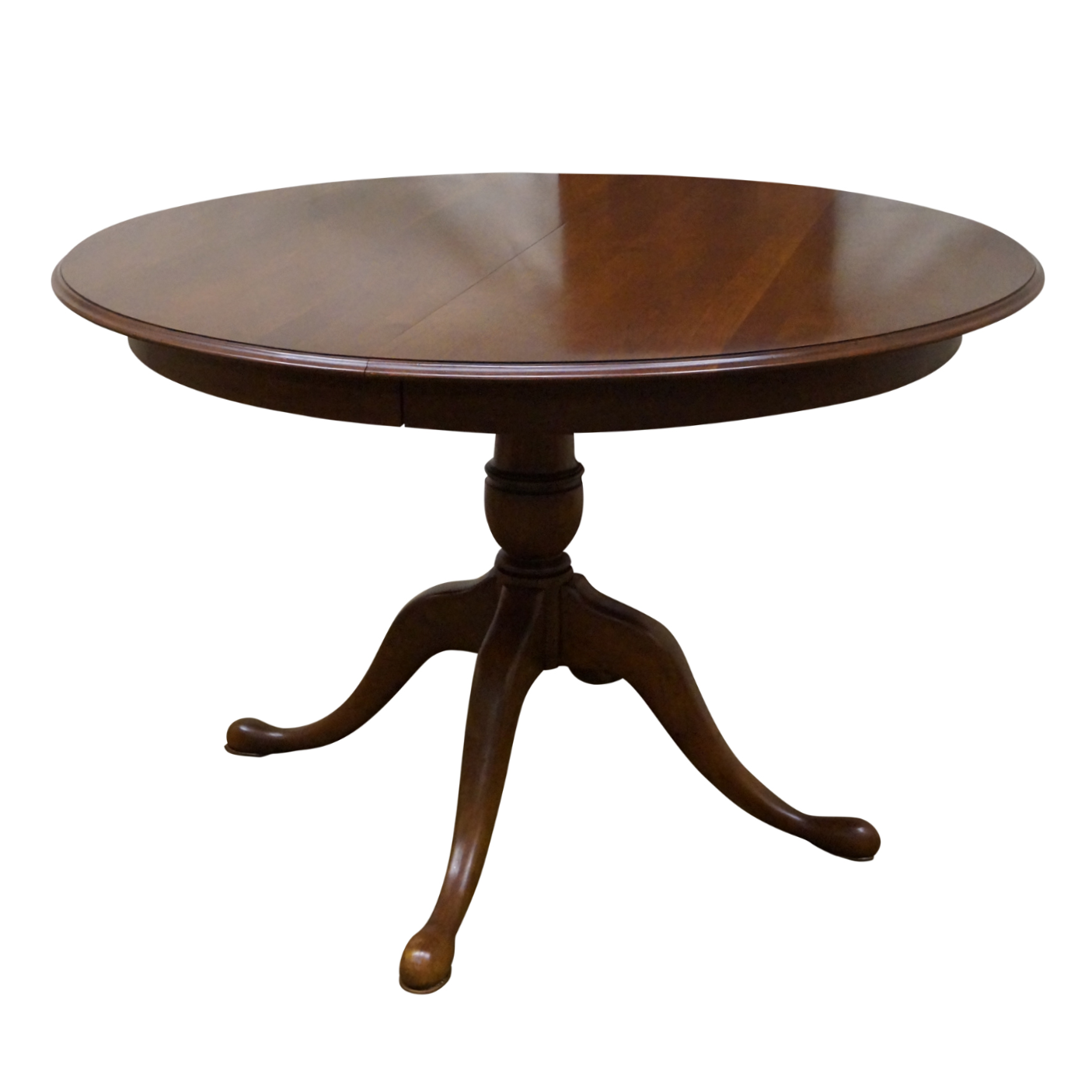 ethan allen solid cherry round dining table chairish. Black Bedroom Furniture Sets. Home Design Ideas