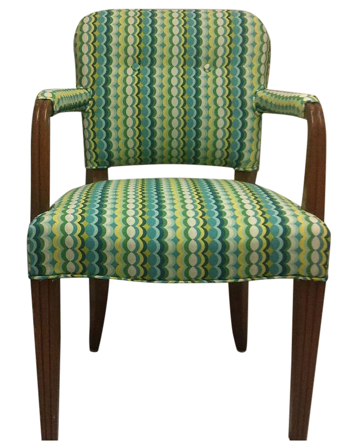 green geometric accent chair chairish