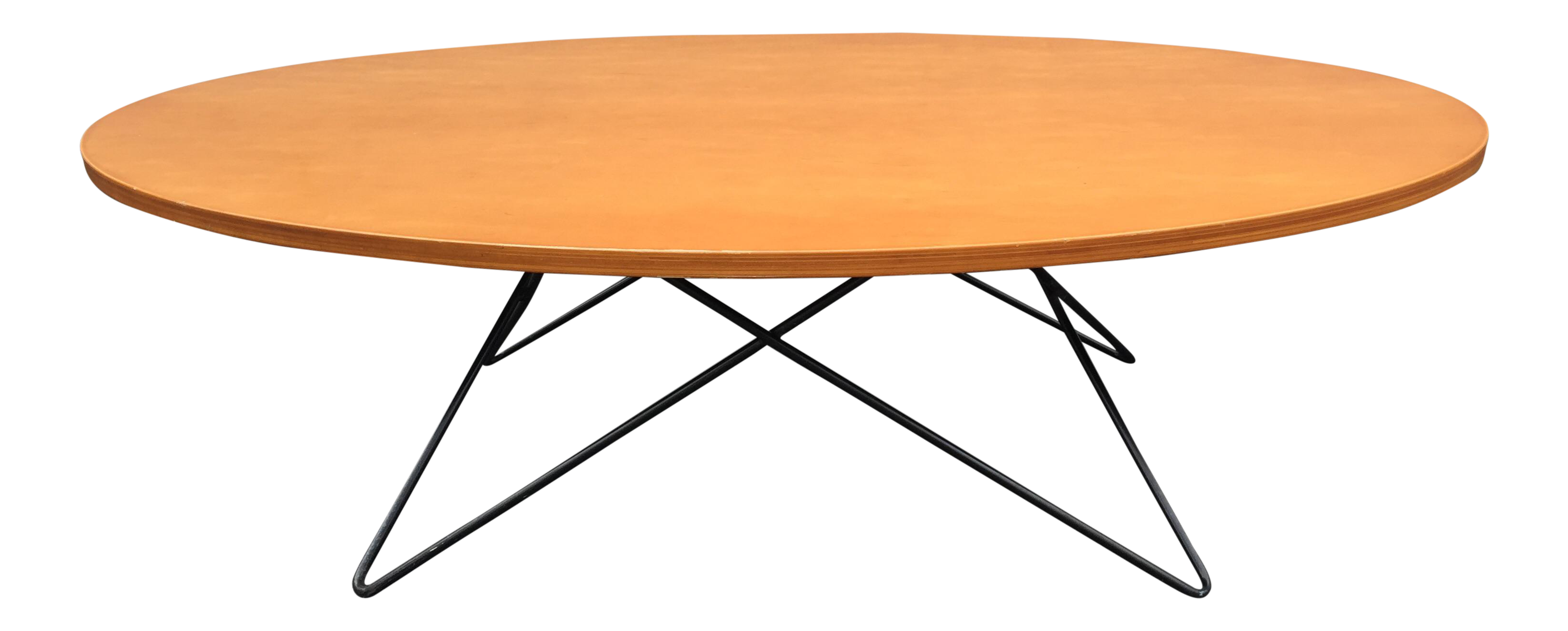 eames style wire base coffee table chairish