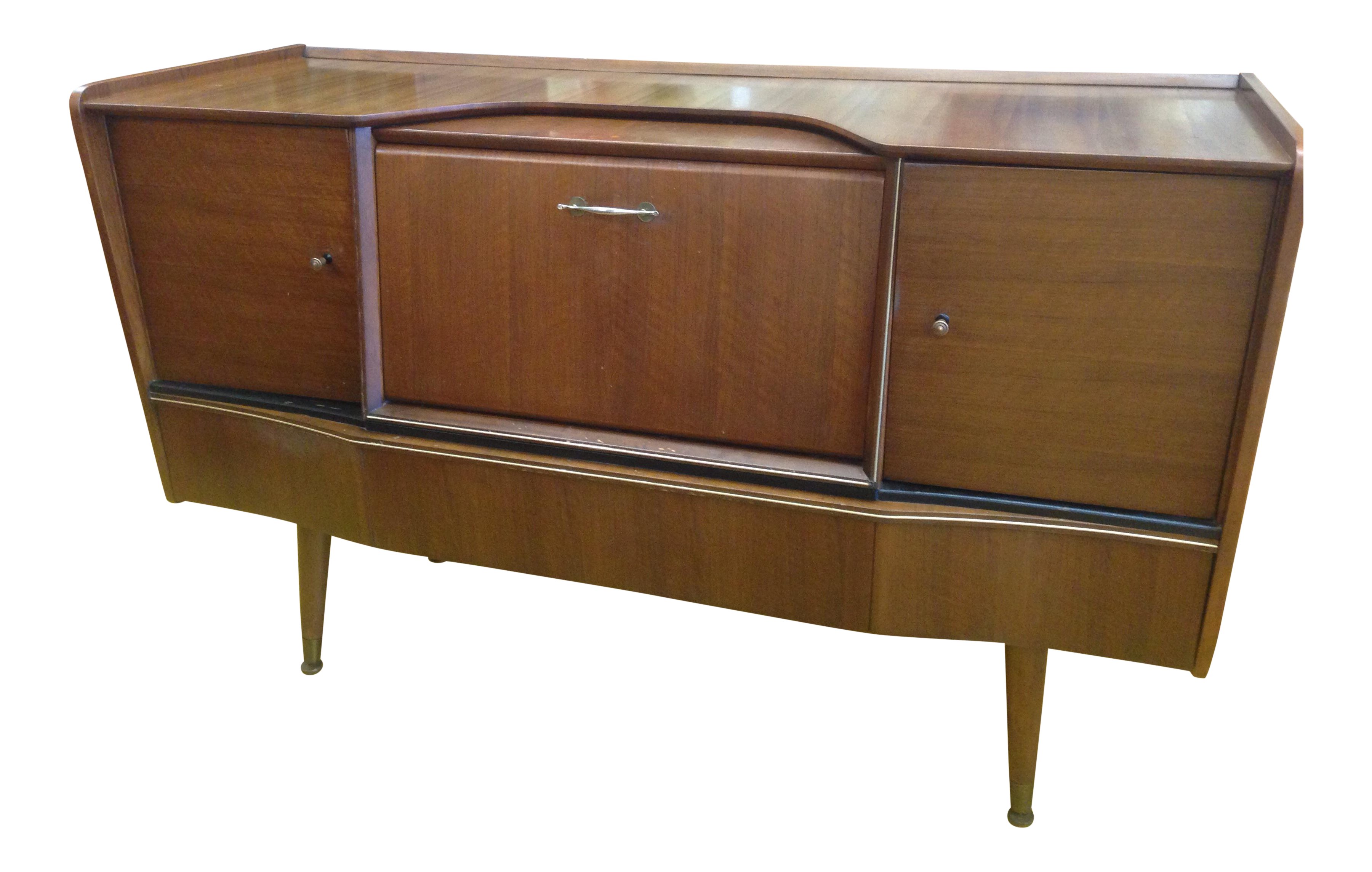 Beautility Mid Century Sideboard With Drop Bar Chairish