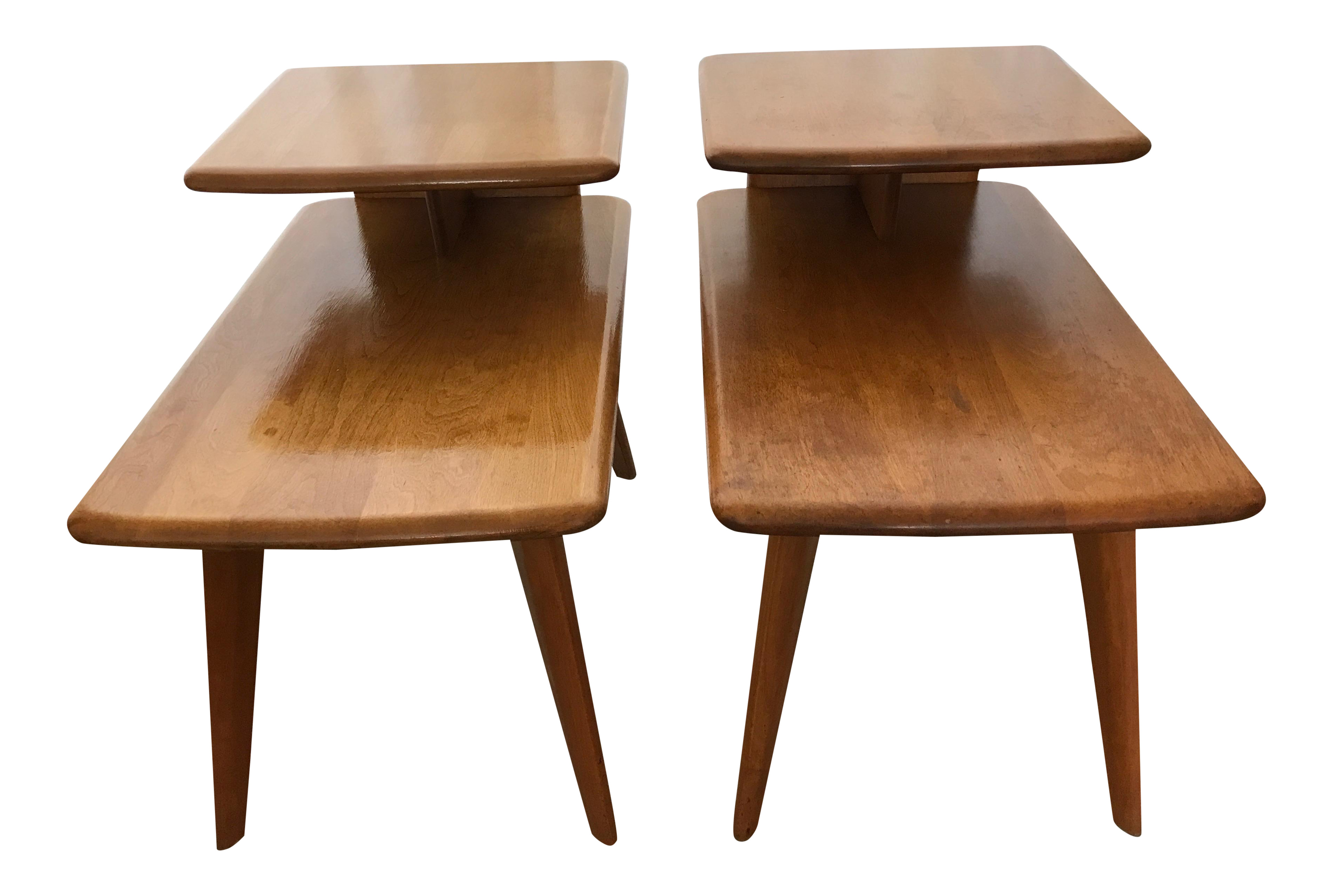 Heywood Wakefield Matching Side Tables A Pair Chairish