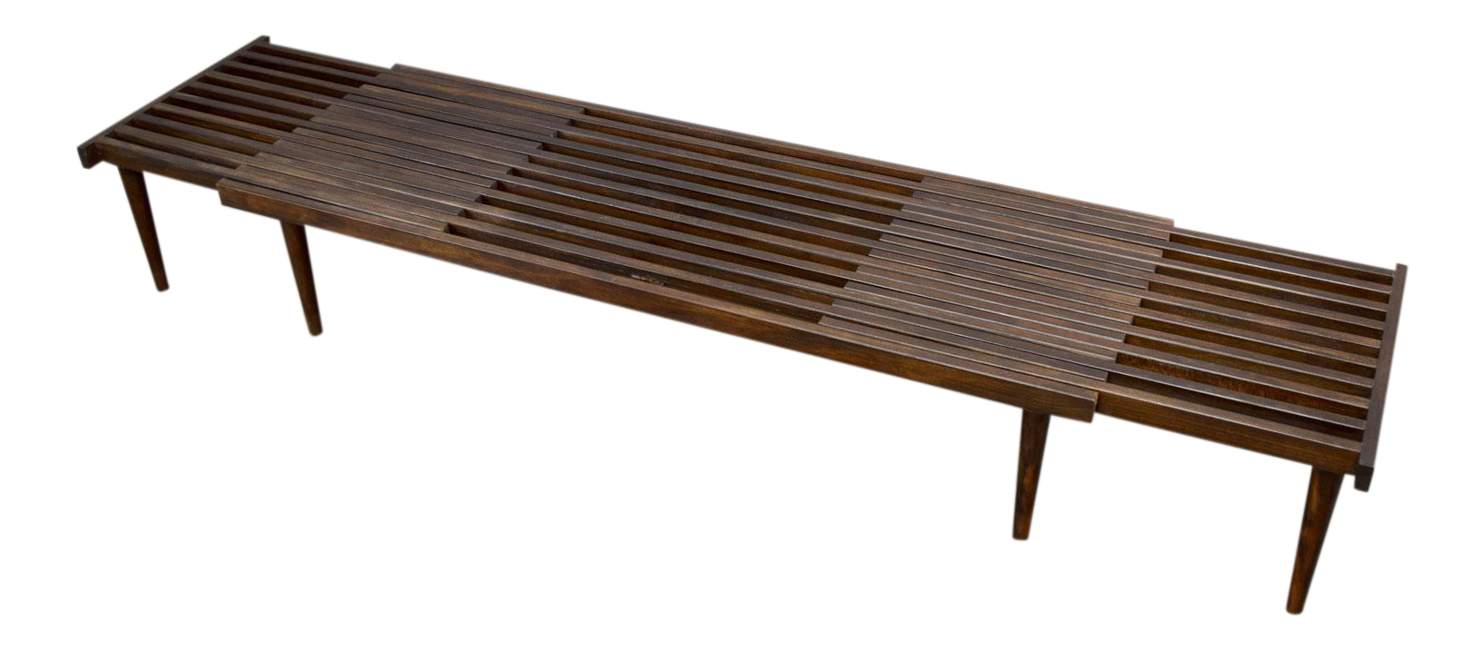 On hold john keal for brown saltman mid century expandable slat on hold john keal for brown saltman mid century expandable slat bench or table chairish geotapseo Gallery