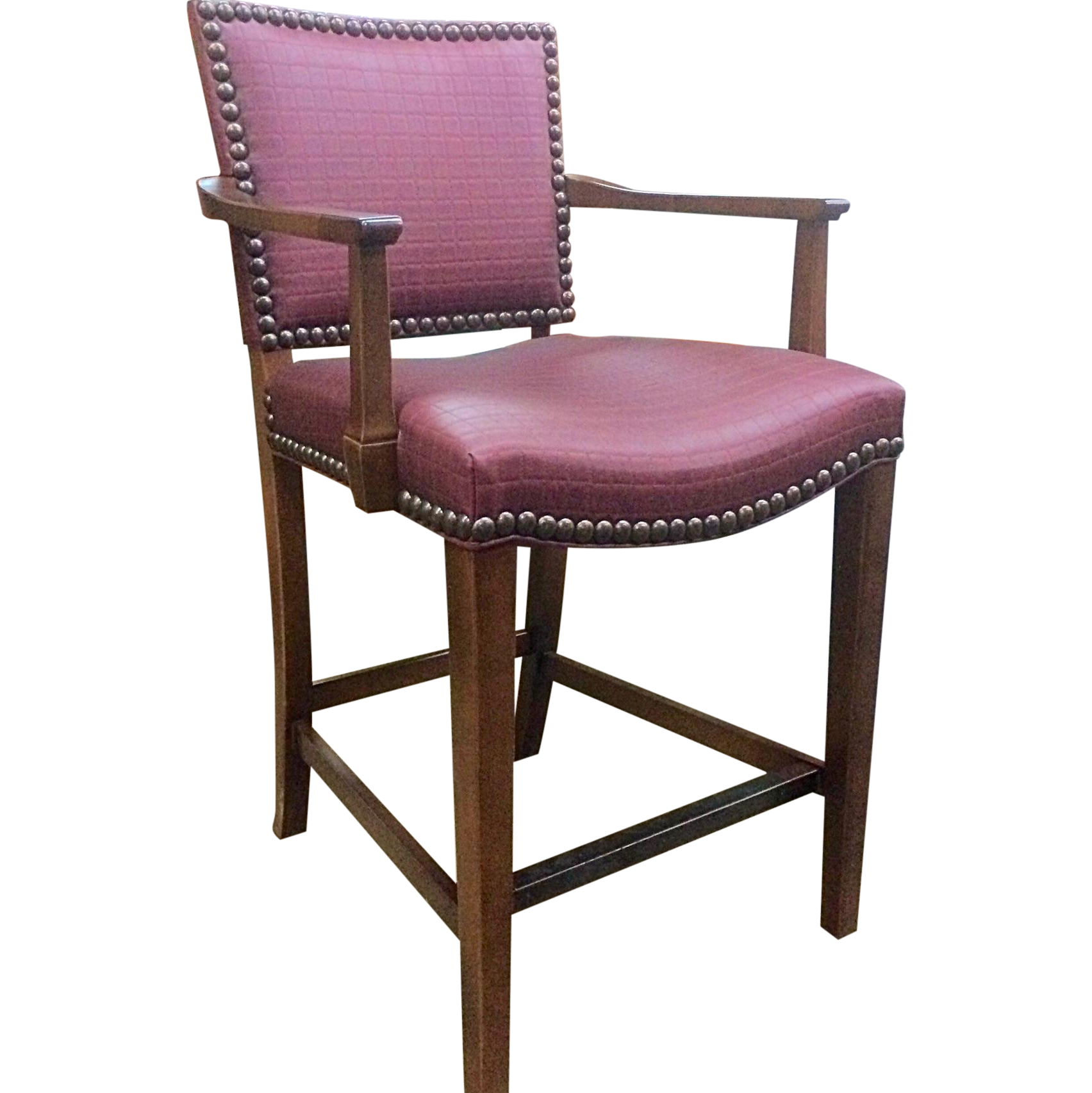 Hickory Chair Co Studded Madigan Counter Chair Chairish