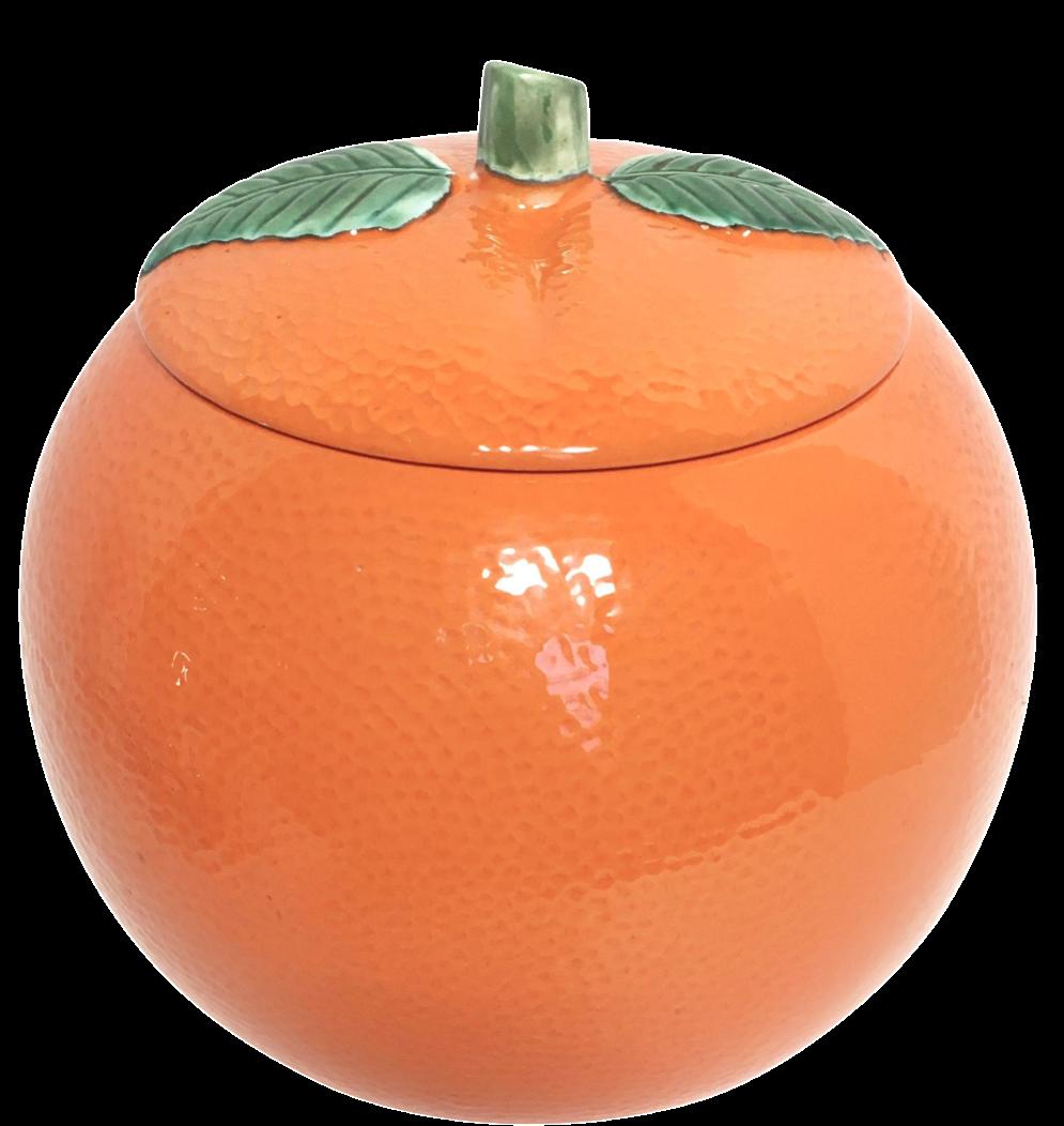 Vintage Ceramic Orange Cookie Jar Chairish