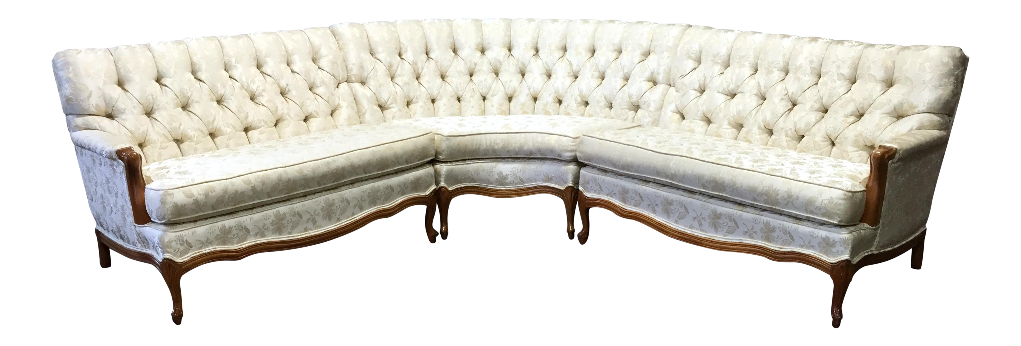 Vintage 1960 39 S French Provincial Sectional Sofa Chairish