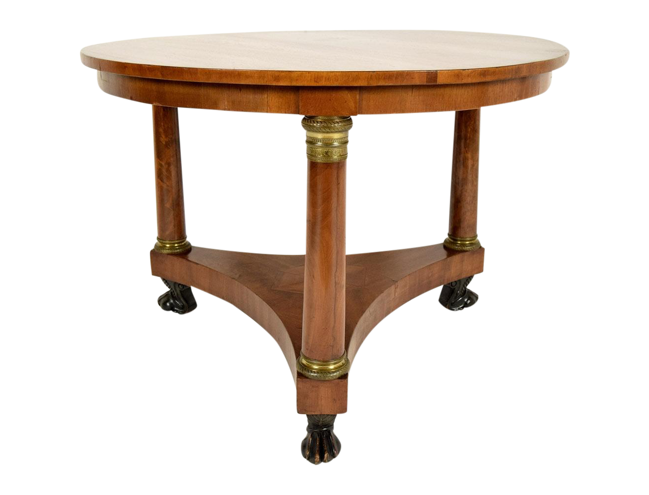 19th century french empire center table chairish for Table th center