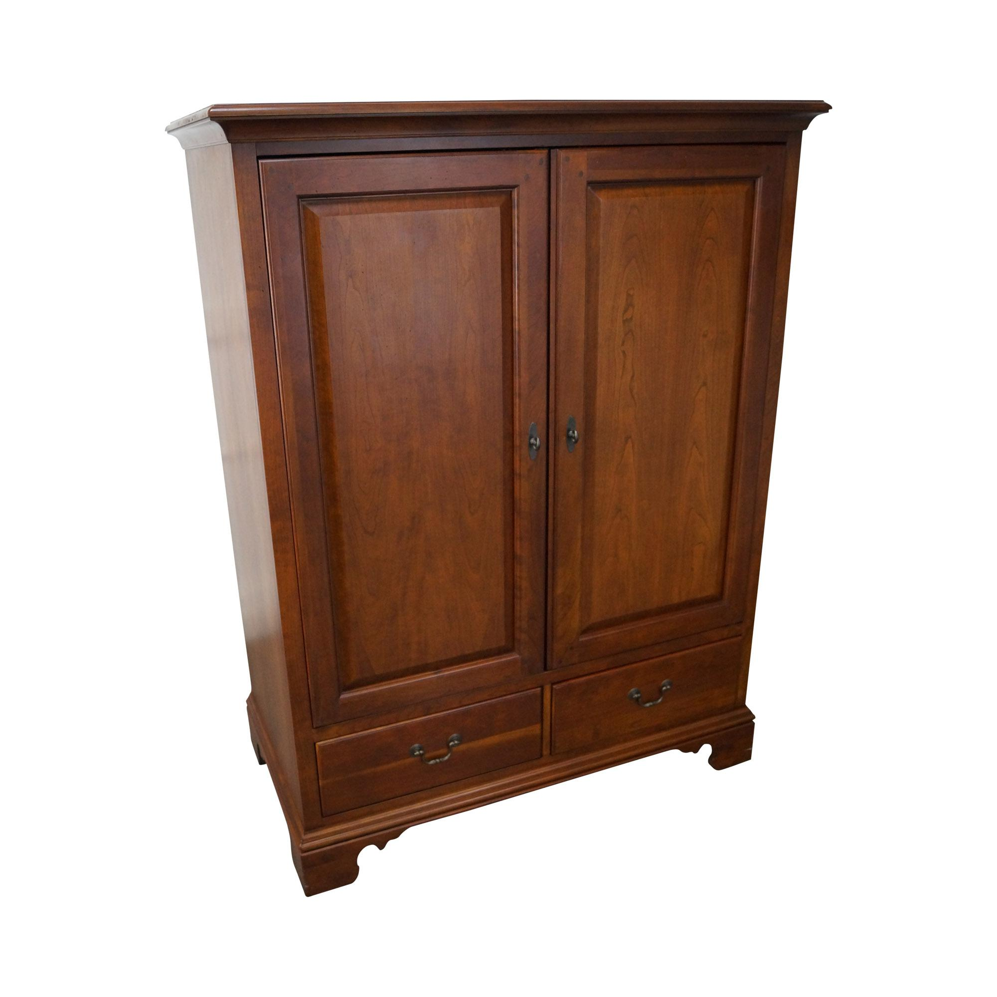 Lexington traditional cherry wood tv armoire cabinet