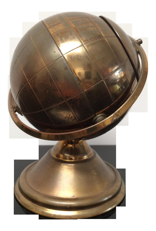 Vintage Brass Globe Cigarette Holder Chairish