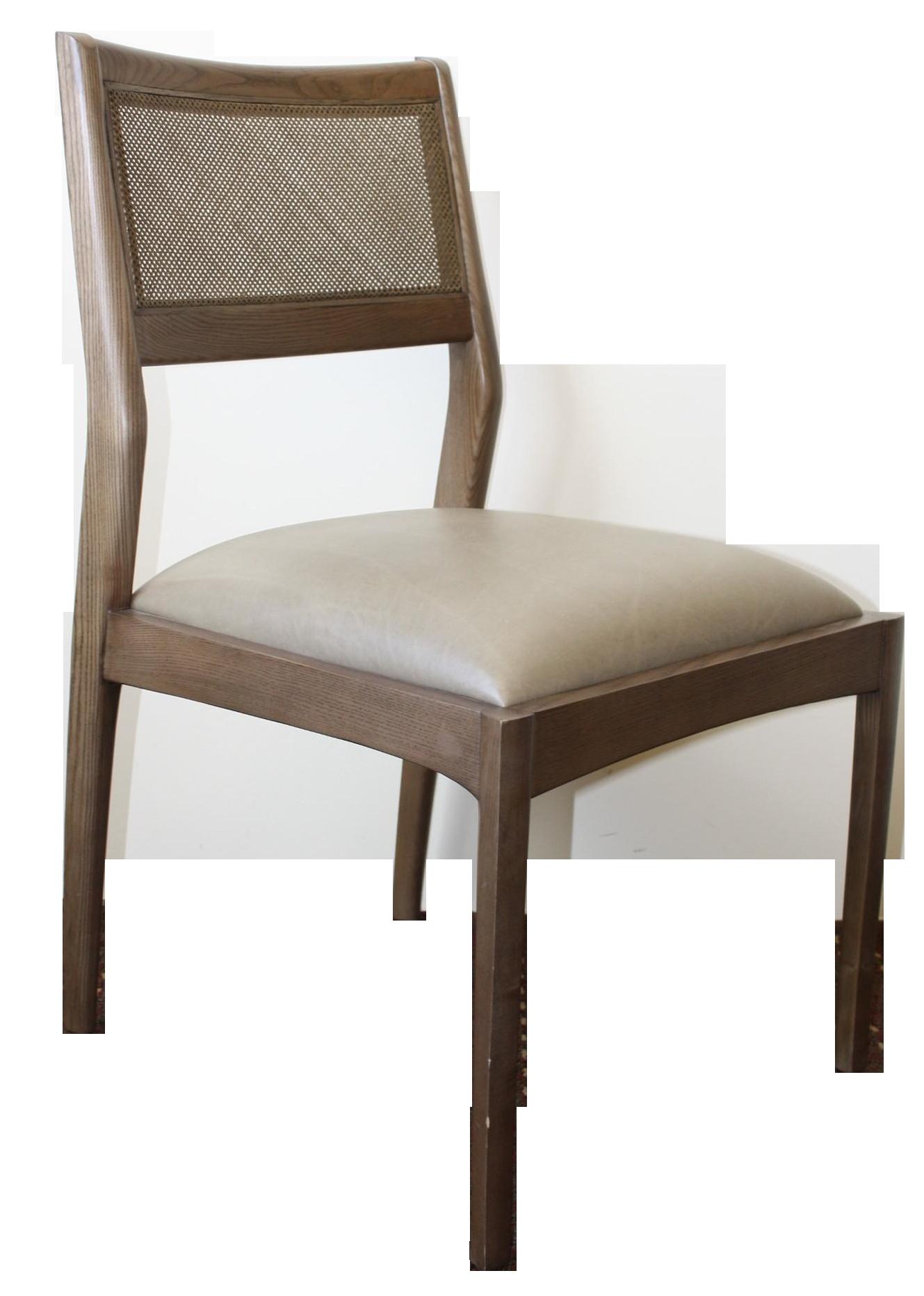 McGuire Fino Side Chair in Gray & Dove