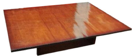 william sonoma nassau coffee table | chairish