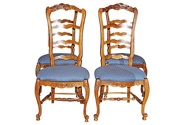 Image Of Country French Ladderback Chairs   Set Of 4