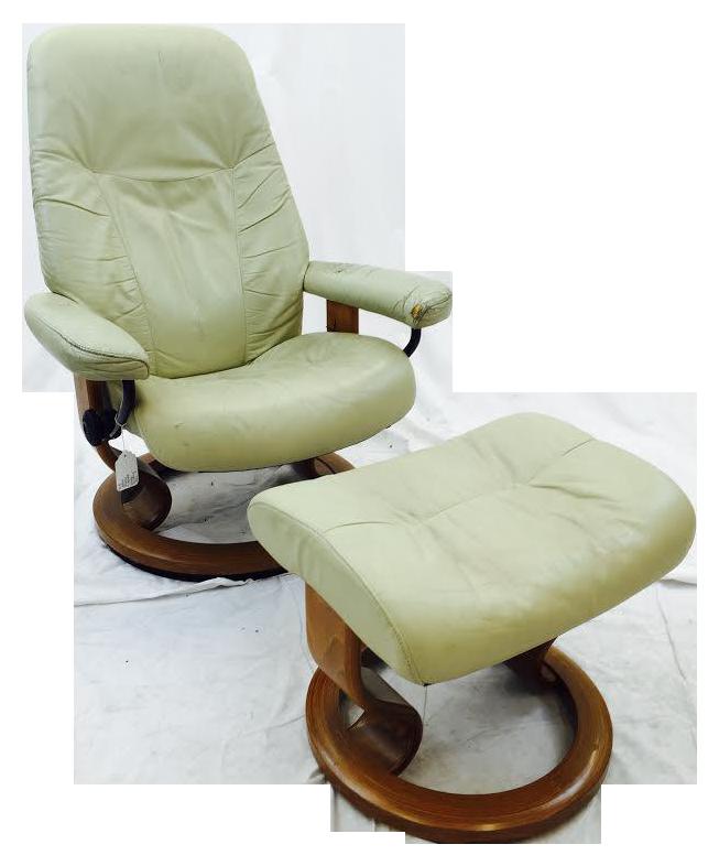 image of vintage ekornes norway stressless chair u0026 ottoman - Stressless Chair