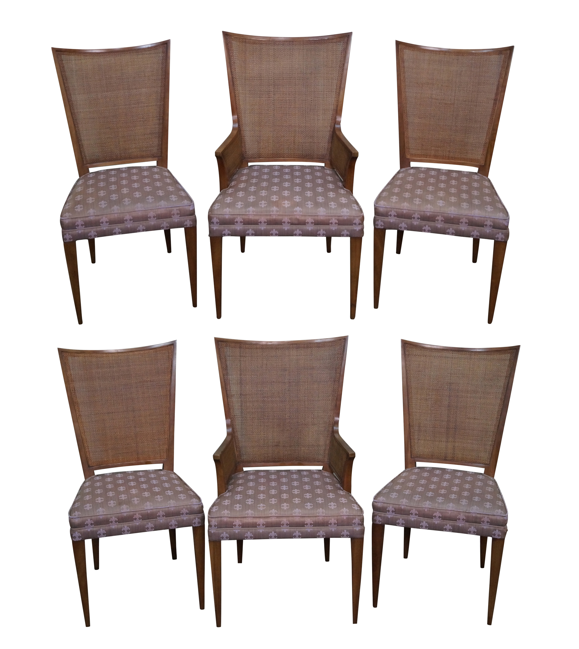 Widdi b Mid Century Cane Back Dining Chairs 6