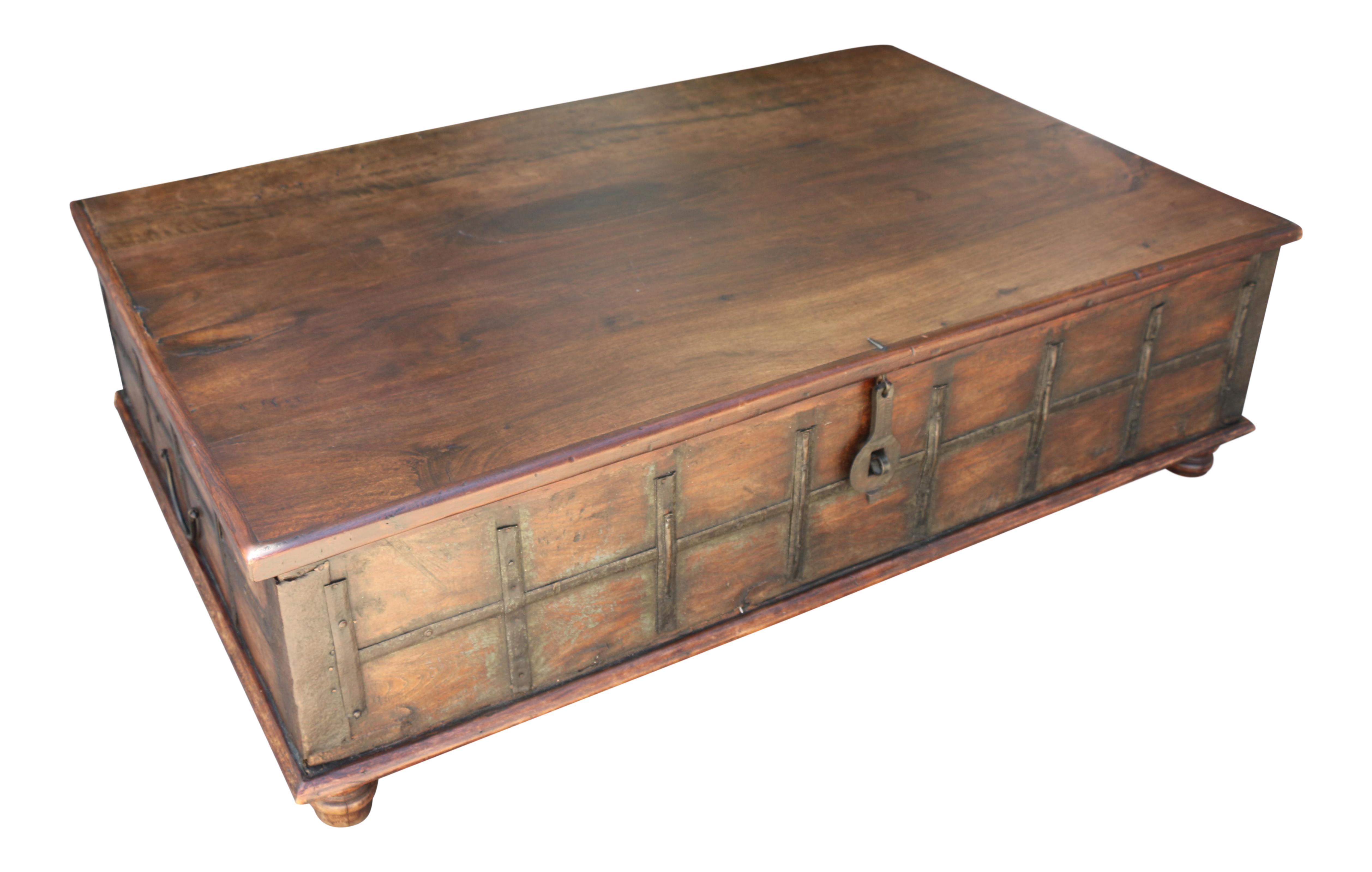 Rustic Style Coffee Table With Storage Inside Chairish