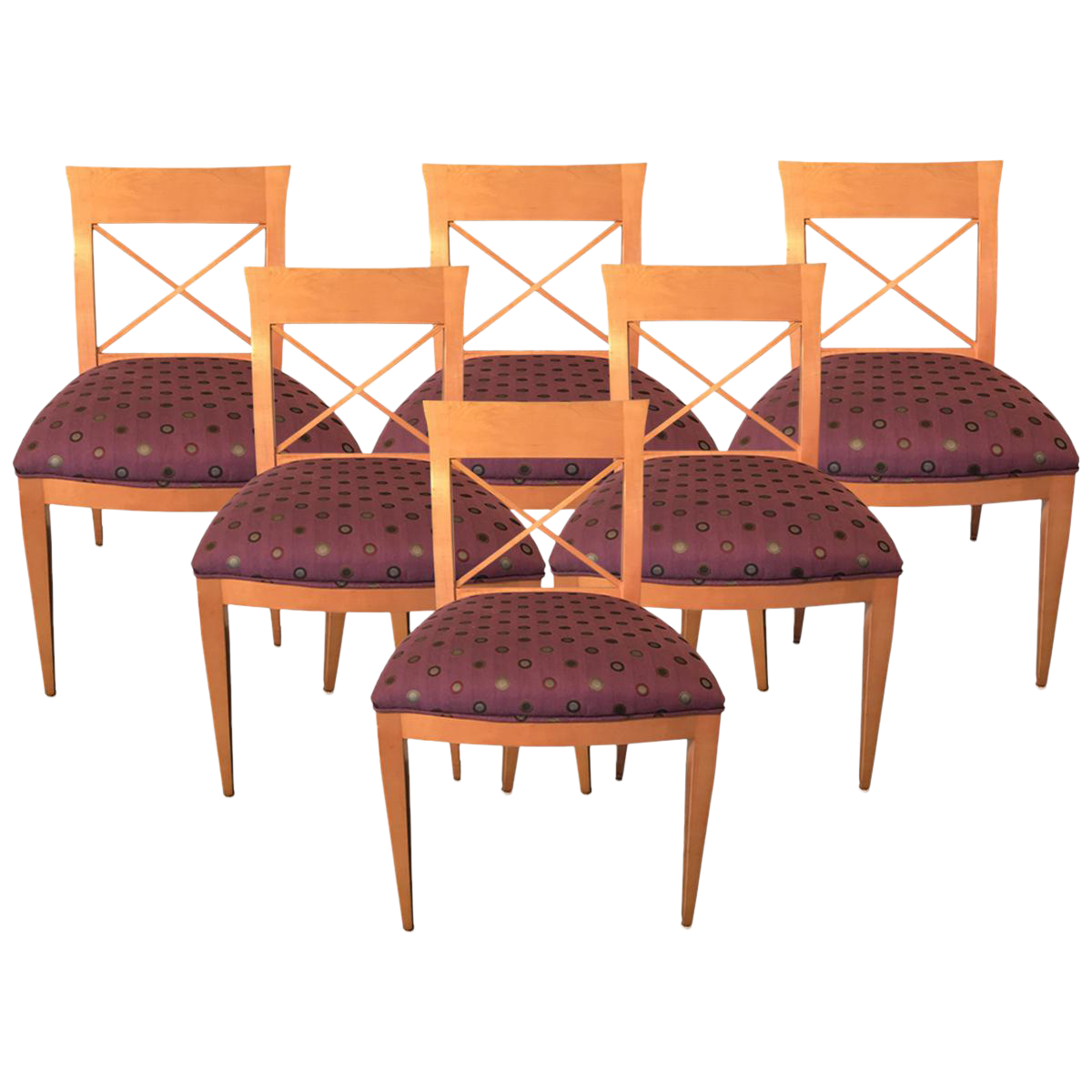 Baker dining chairs set of 6 chairish for Chair 6 mt baker