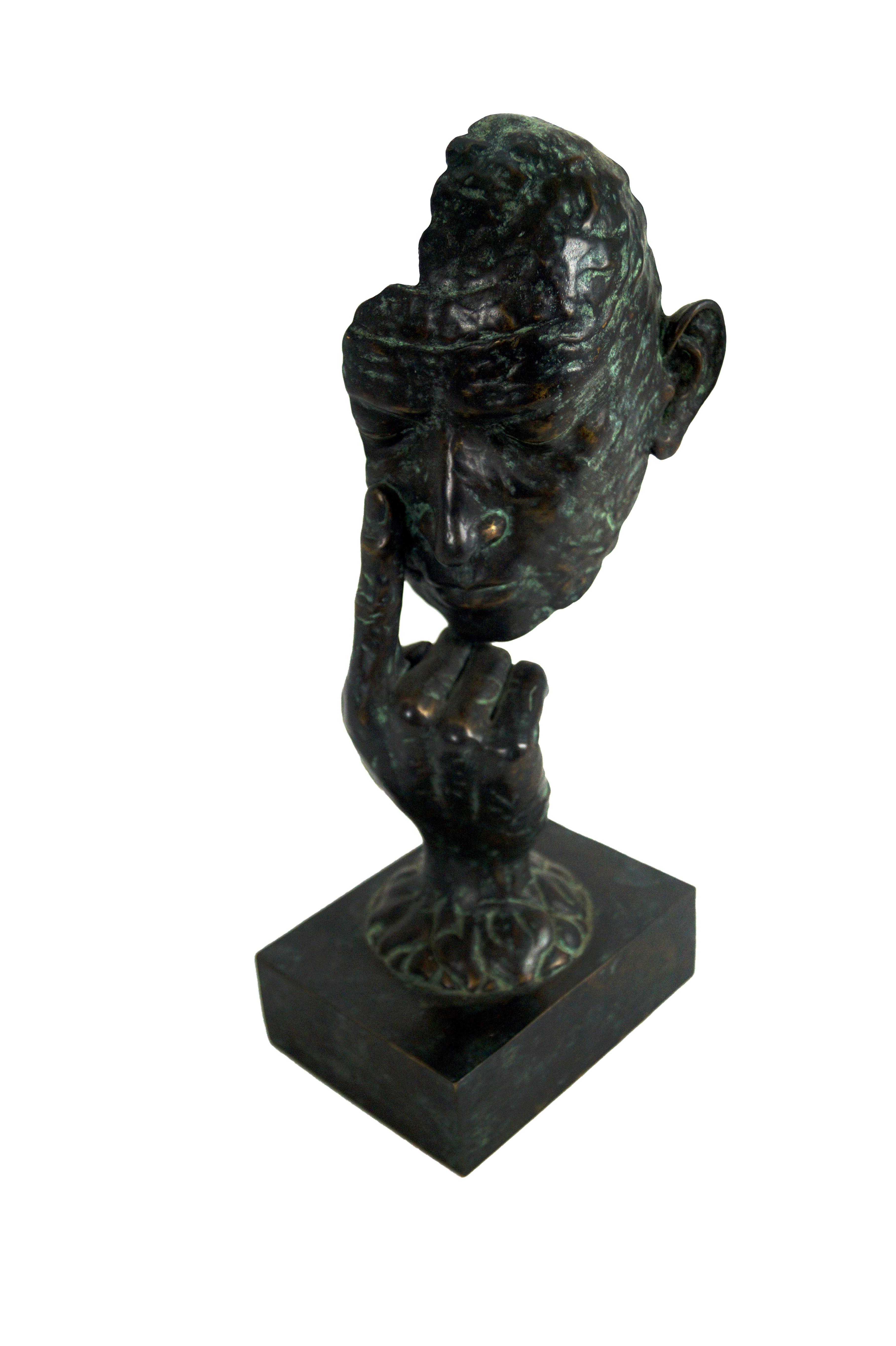 Maitland Smith Bronze Hands Amp Face Sculpture Chairish