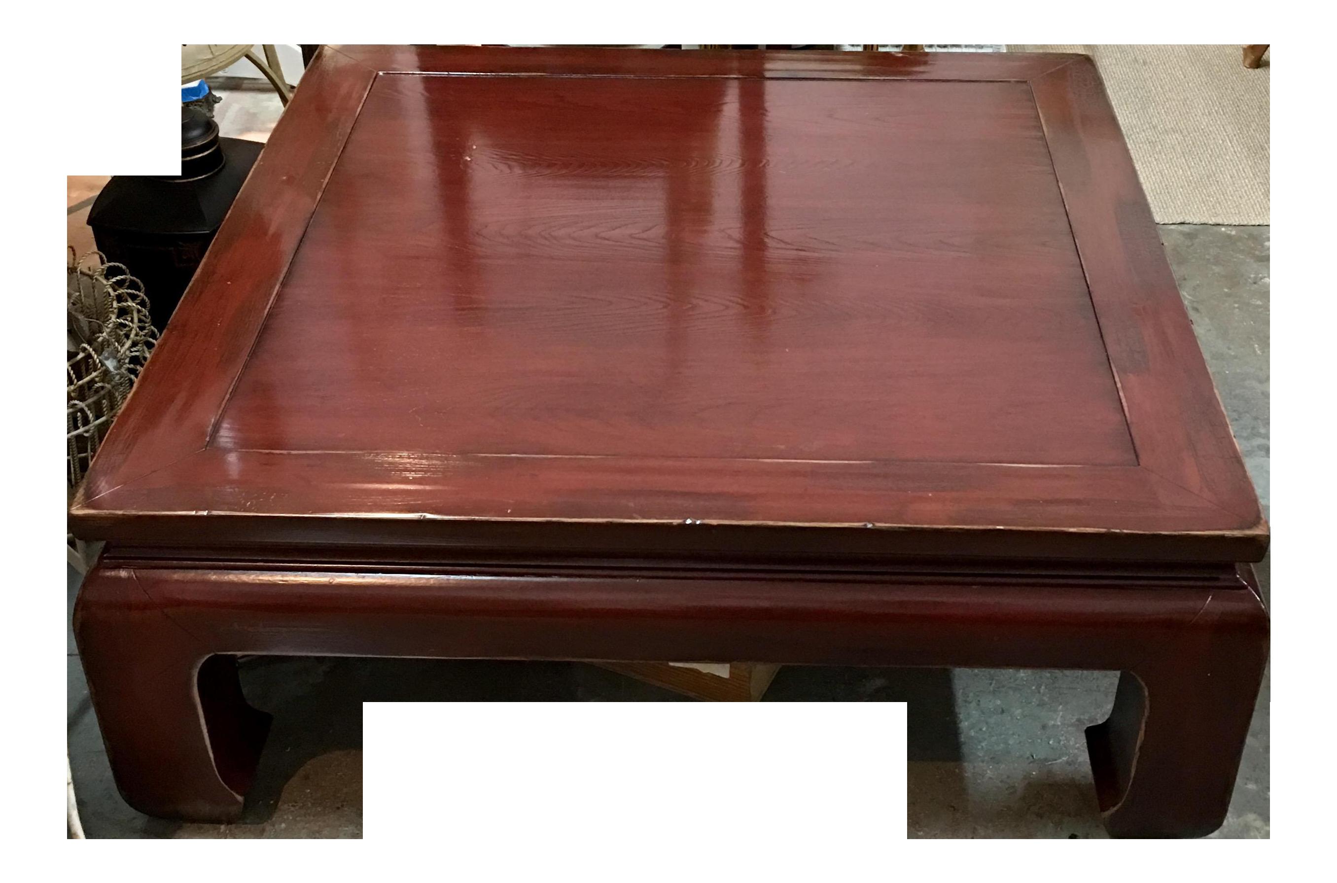 Ethan Allen Ming Style Cherry Veneer Coffee Table Chairish