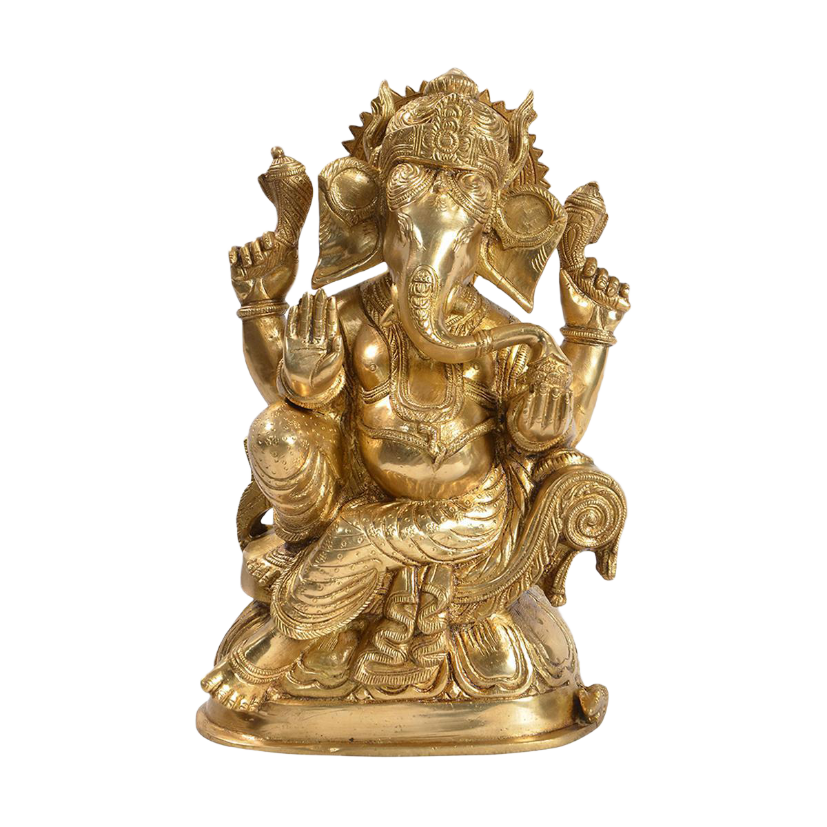 Solid Brass Ganesh Statue Chairish