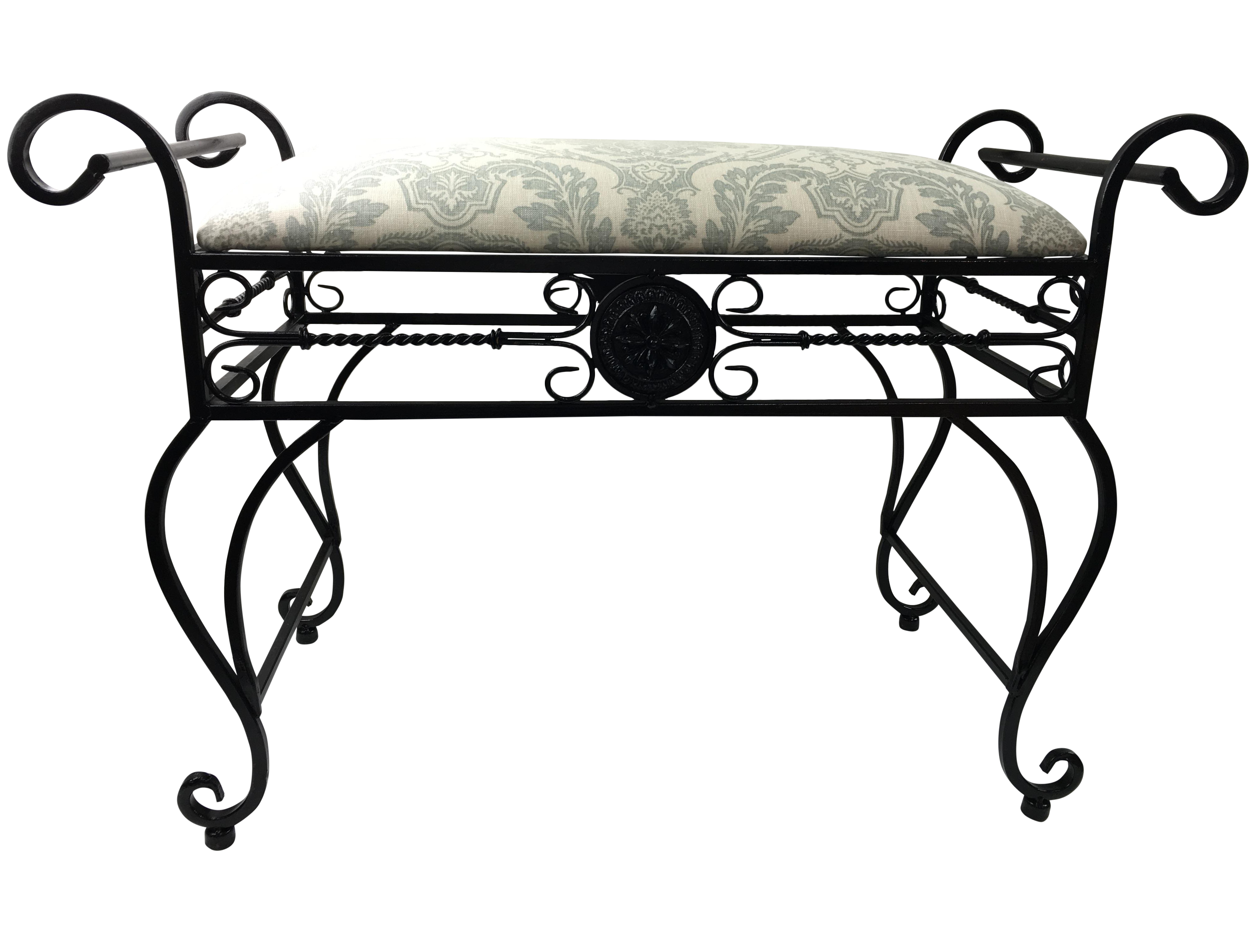 Wrought Iron Vanity Bench Chairish