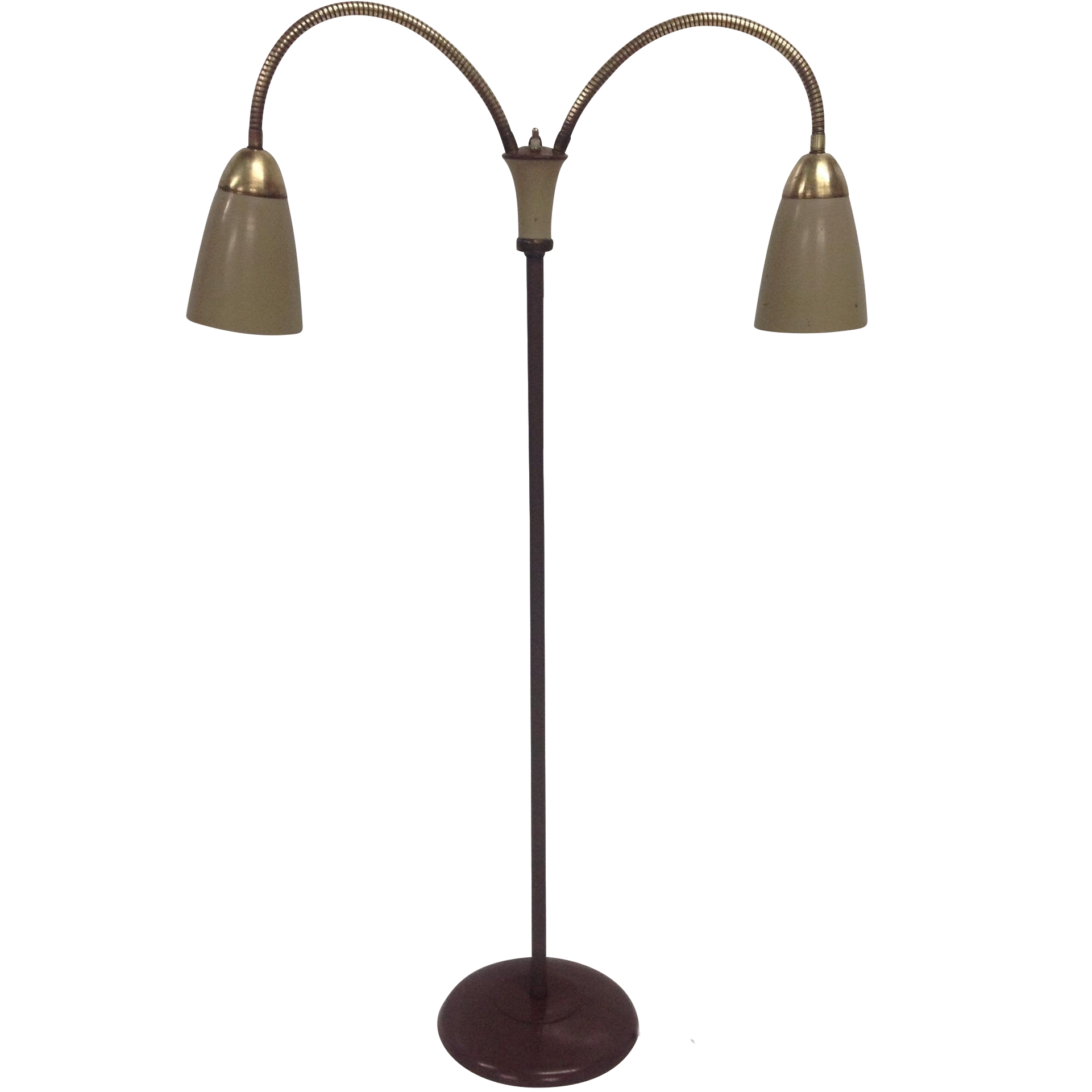 Mid Century Double Gooseneck Floor Lamp Chairish