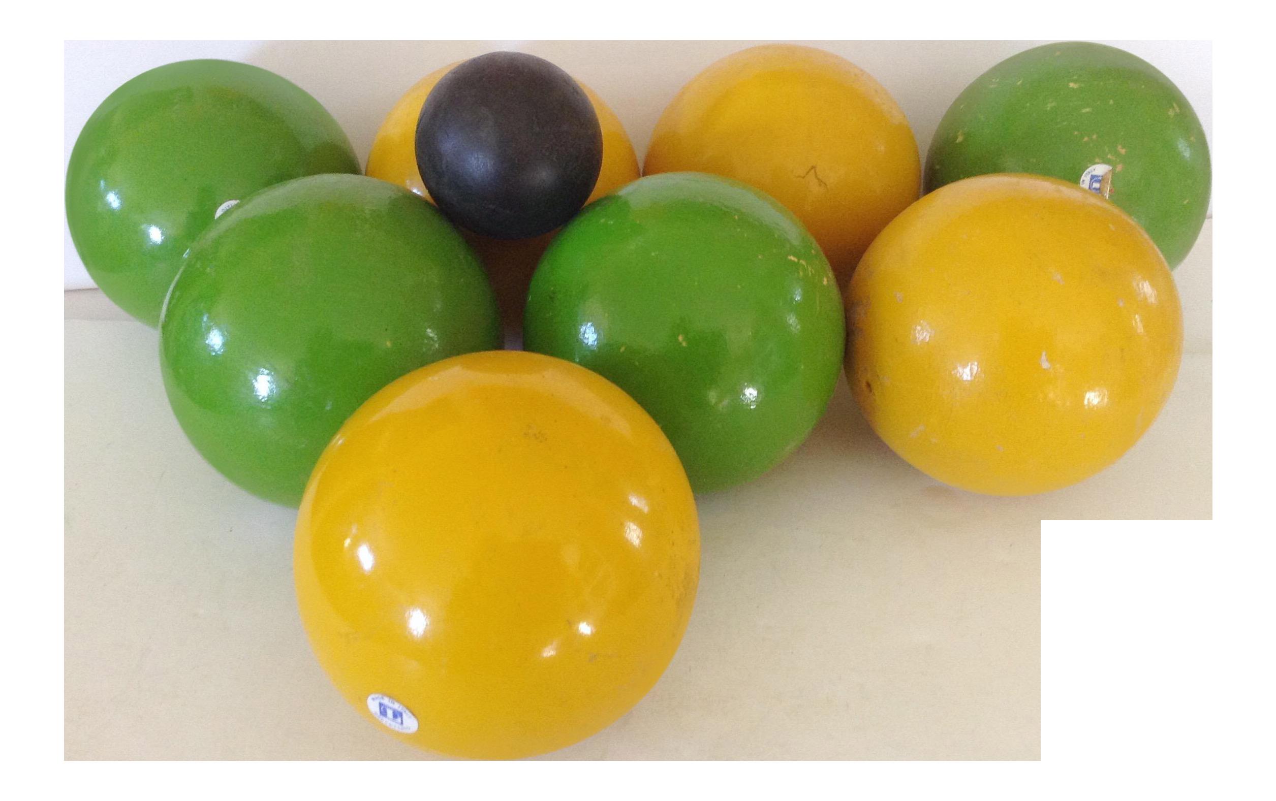 Italian Bocce Ball Set Of 9 Chairish