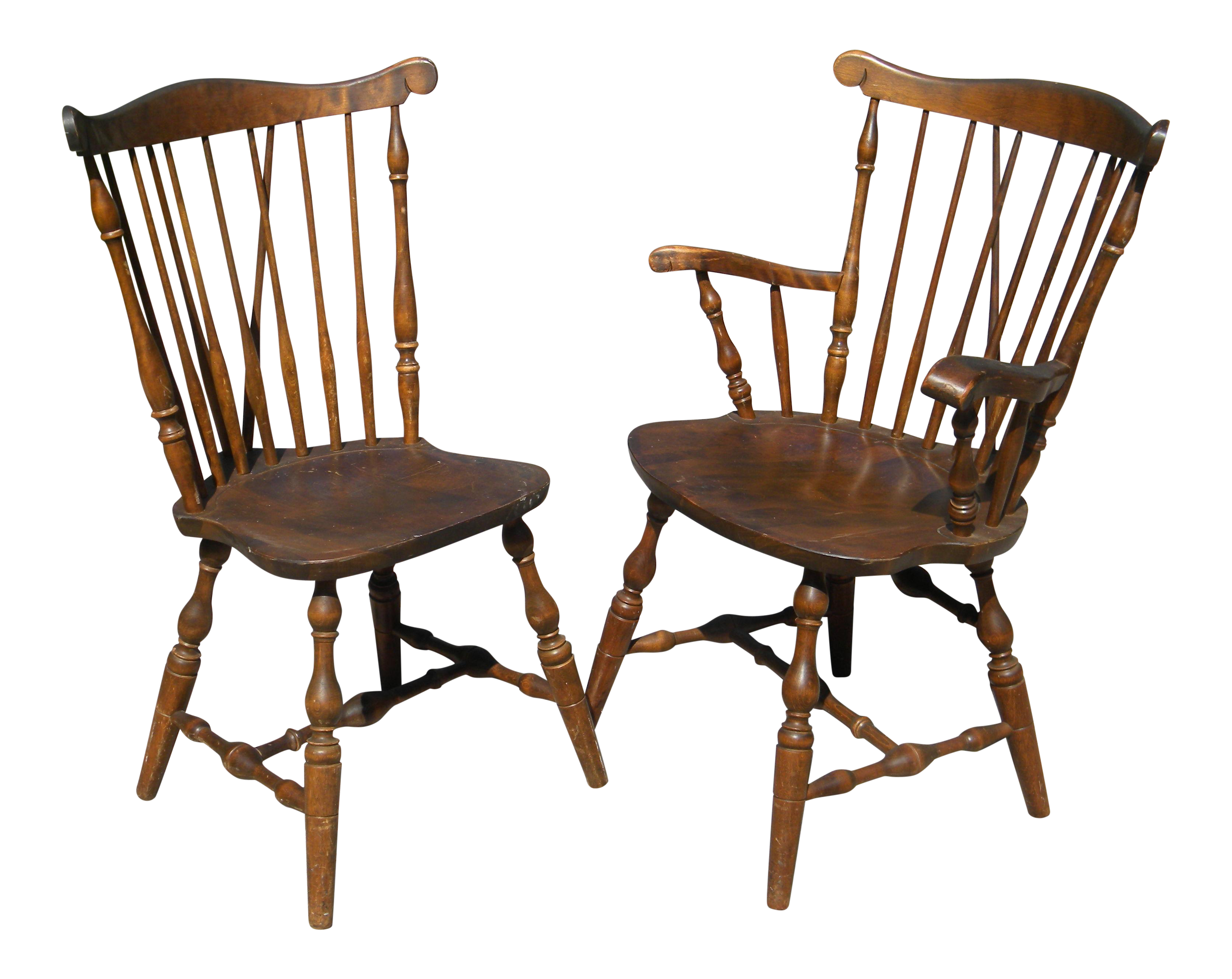 S Bent Amp Bros Colonial Dining Chairs Set Of 6 Chairish