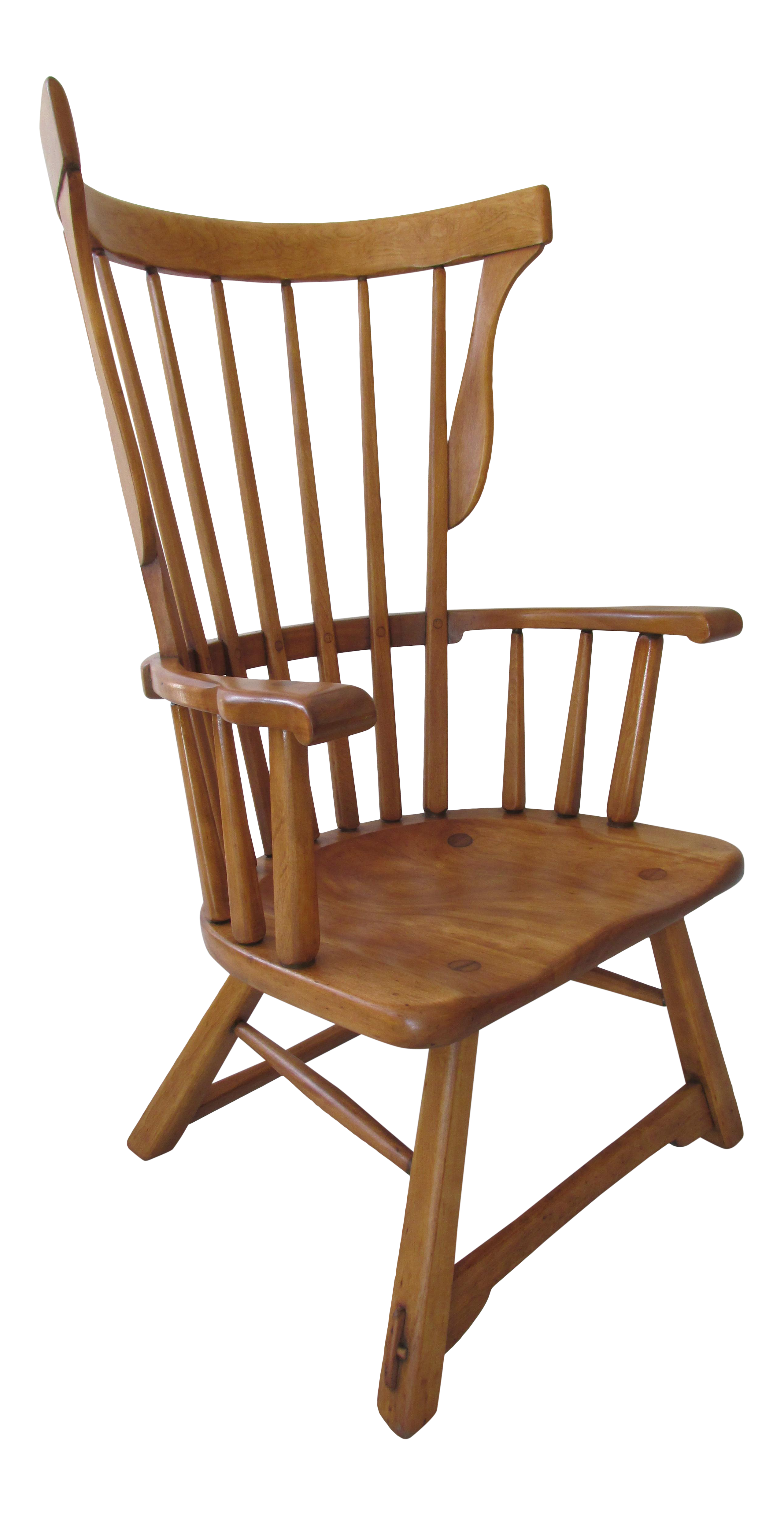 Sikes Furniture Co Modernist Windsor Lounge Chair Chairish