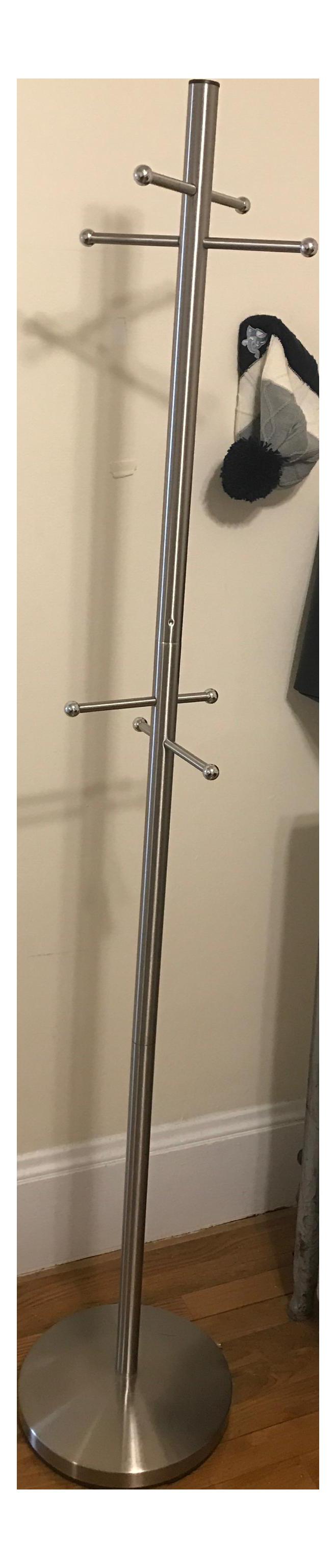 west elm stainless steel coat rack  chairish - image of west elm stainless steel coat rack