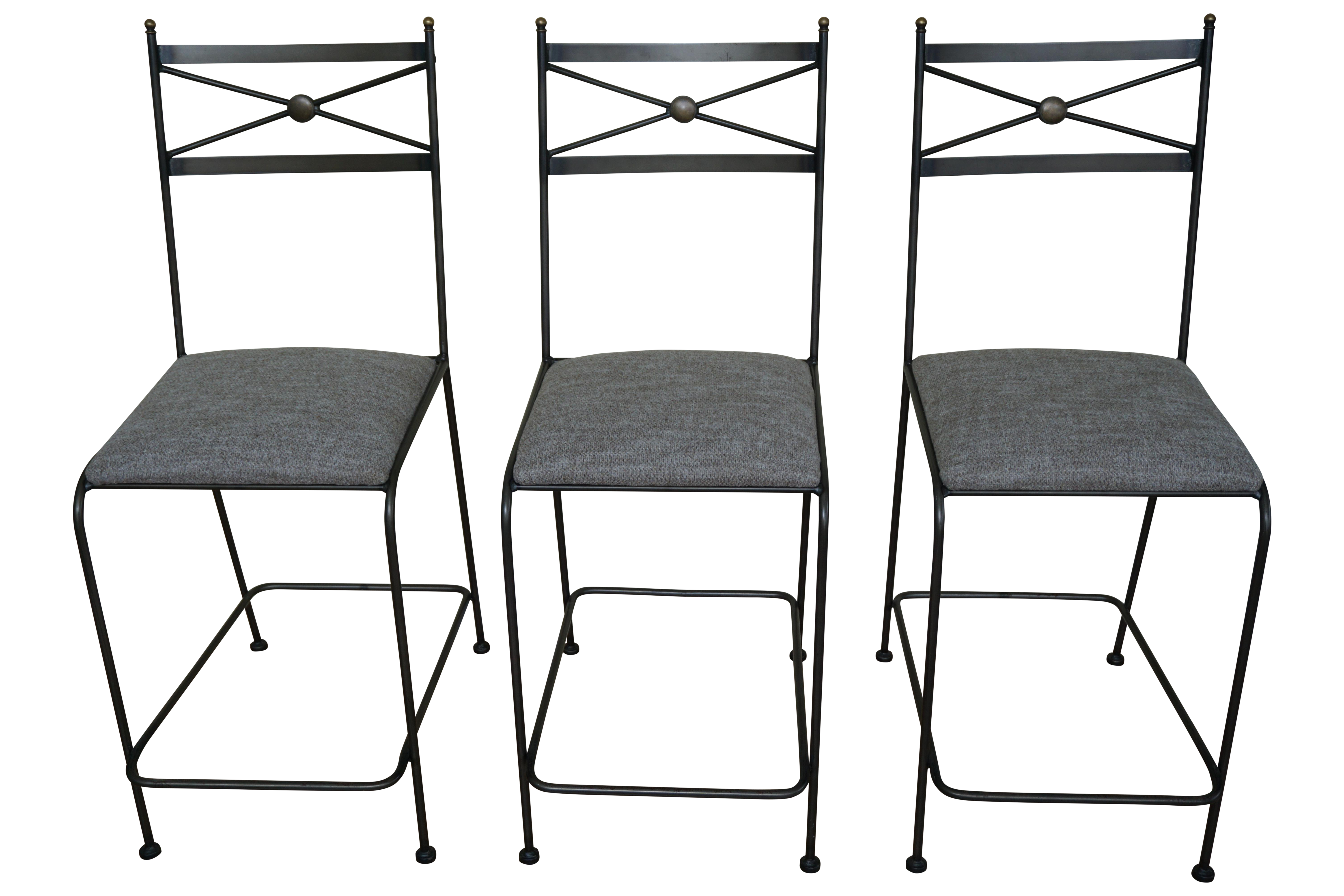 Pair Of Luxury Hand Forged Counter Stools Chairish