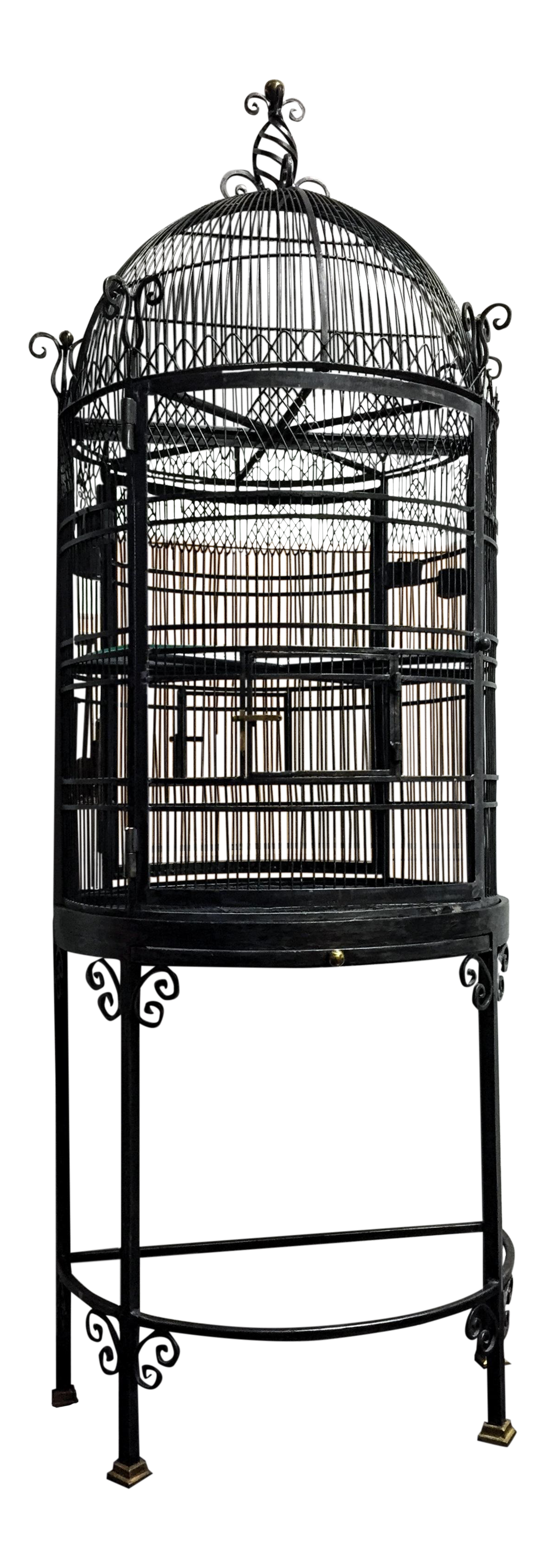Victorian Steel Metal Bird Cage Decorative & Functional Maitland Smith |  Chairish