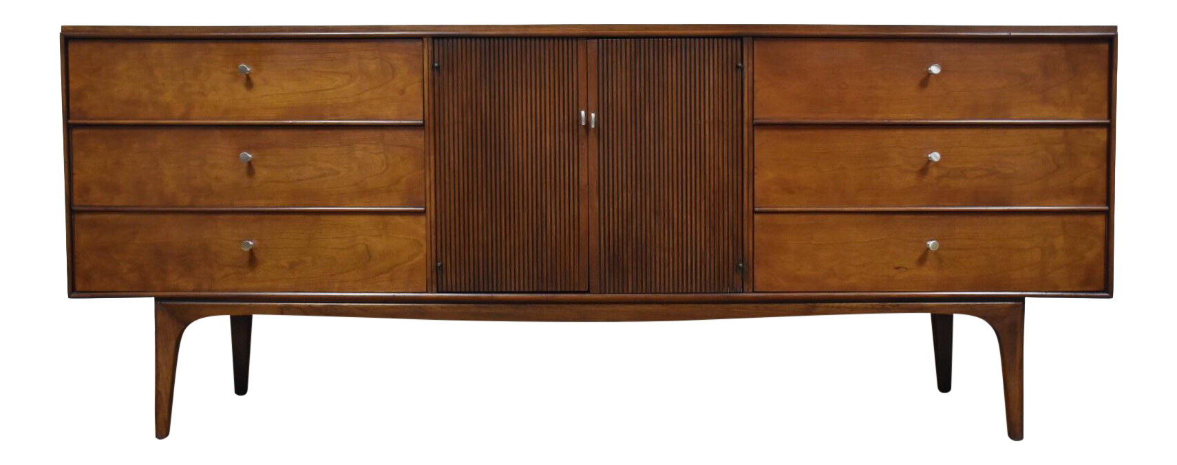 Cherry Wood Dresser Credenza By Lane Furniture Chairish