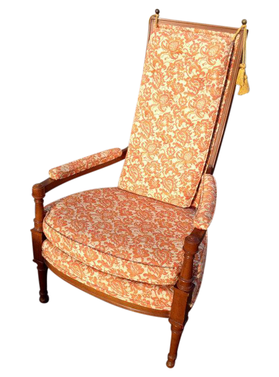 Vintage Orange Throne Chair W Tassels Chairish