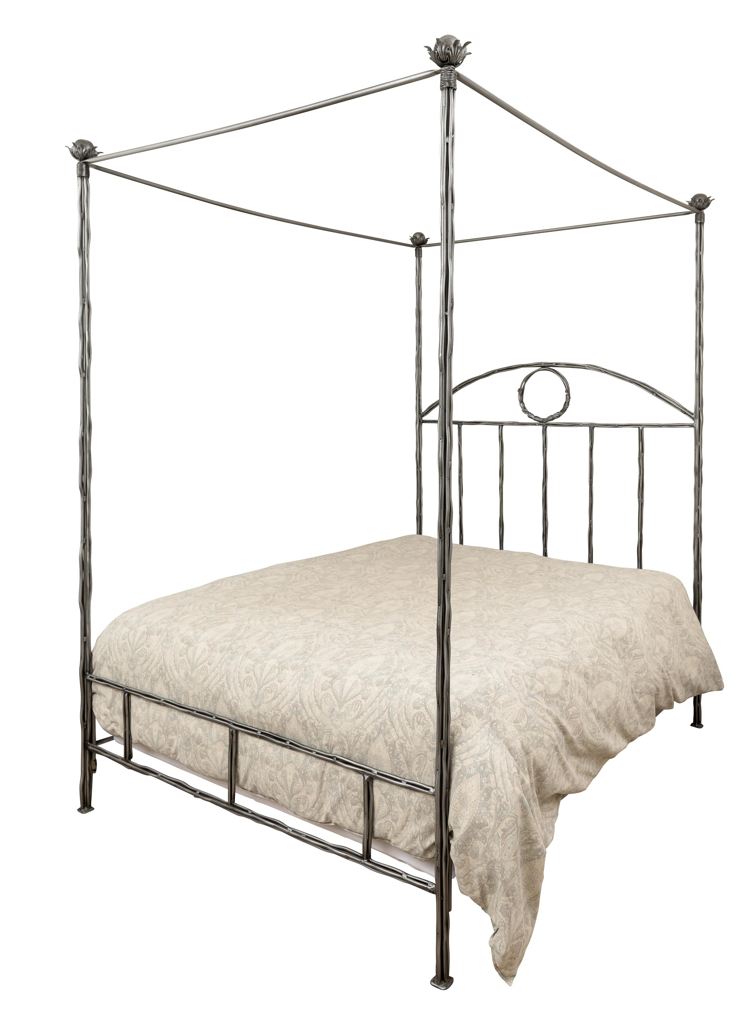 Romantic Framed Metal Canopy Queen Bed Chairish: short canopy bed
